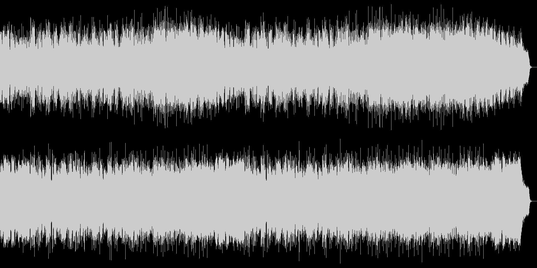 明るくて清々しいピアノ中心のジャズワルツの未再生の波形
