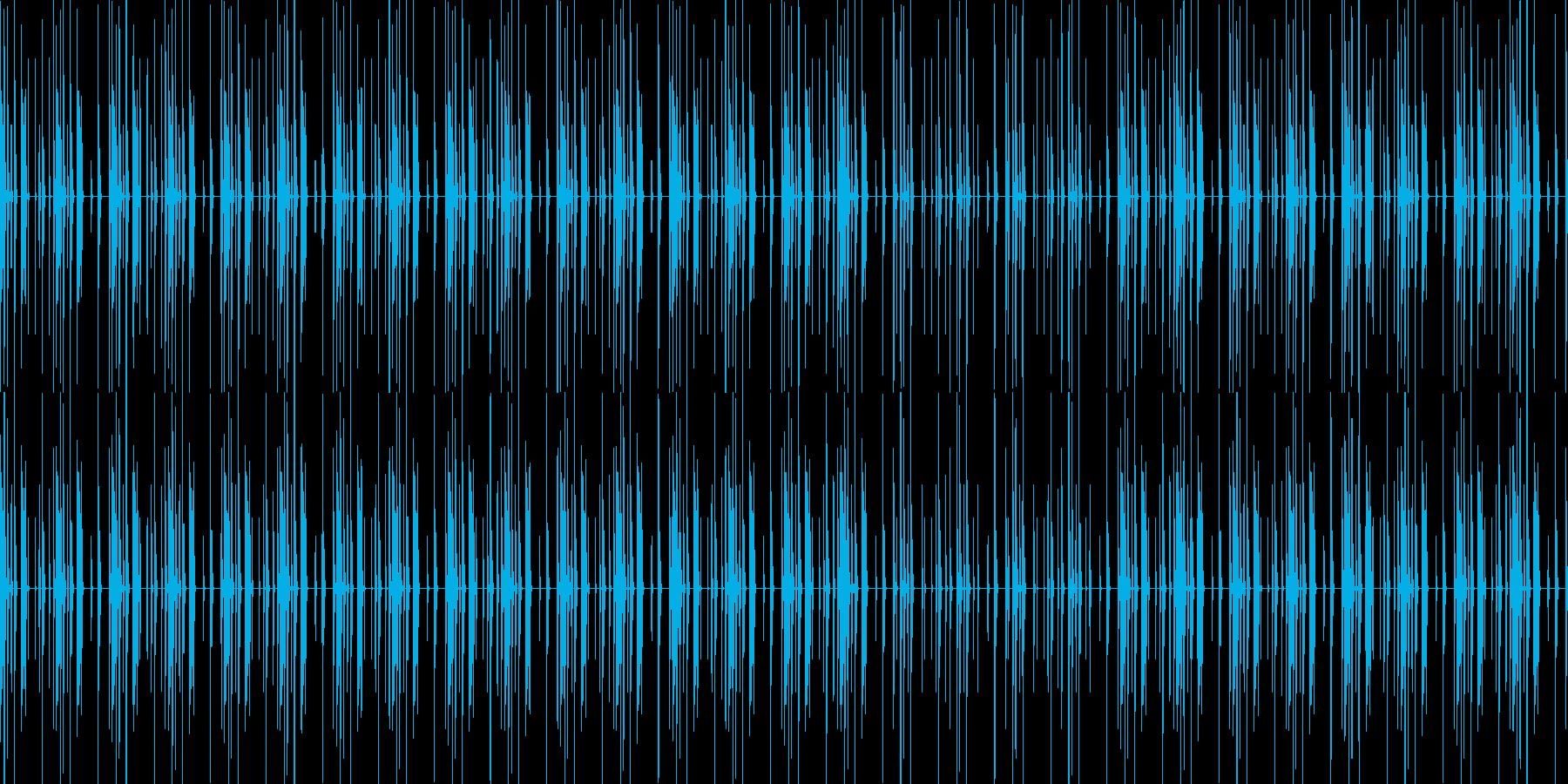 エレクトロニック 無機質なリズムループの再生済みの波形