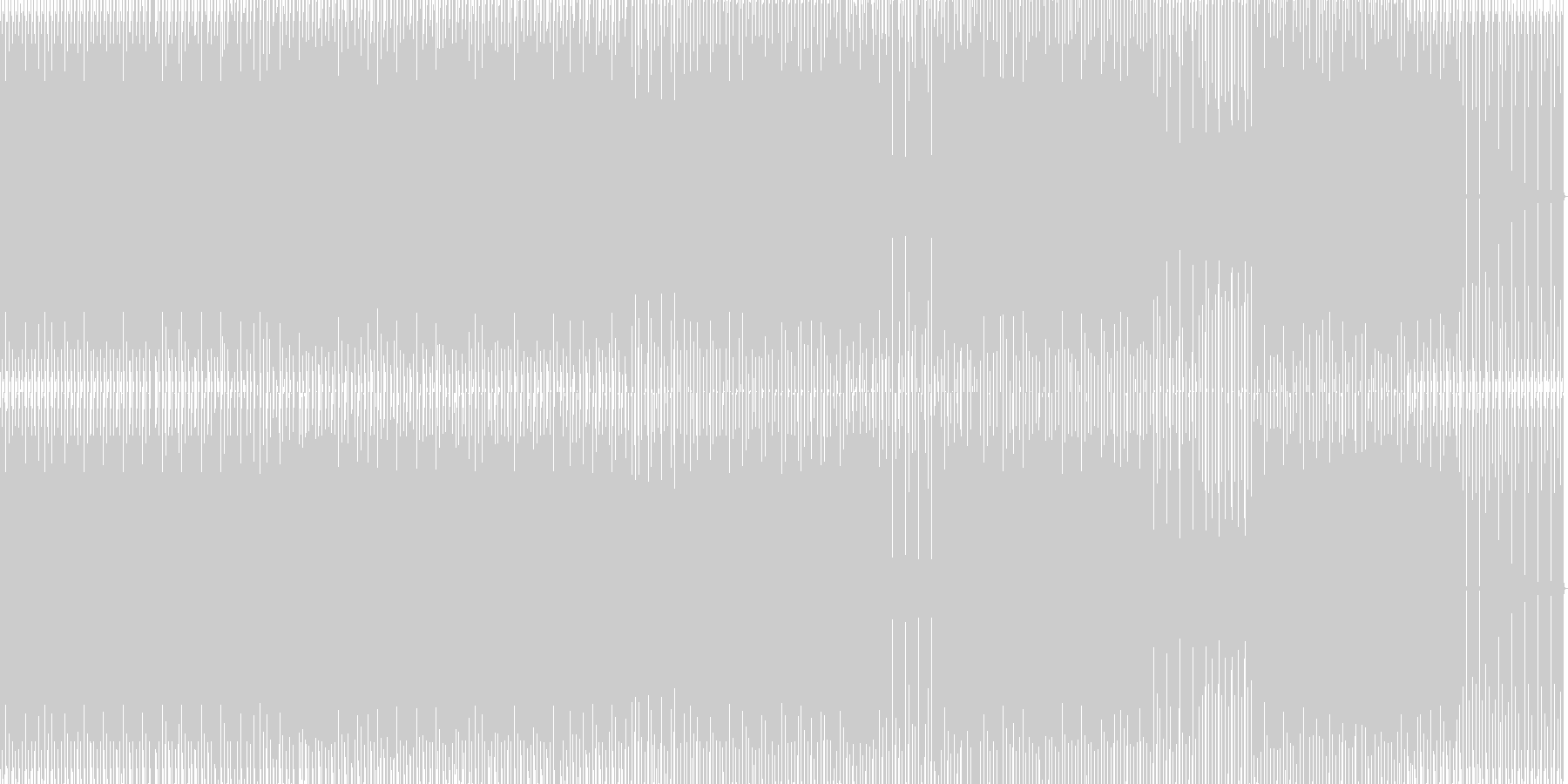 minimal house 25の未再生の波形