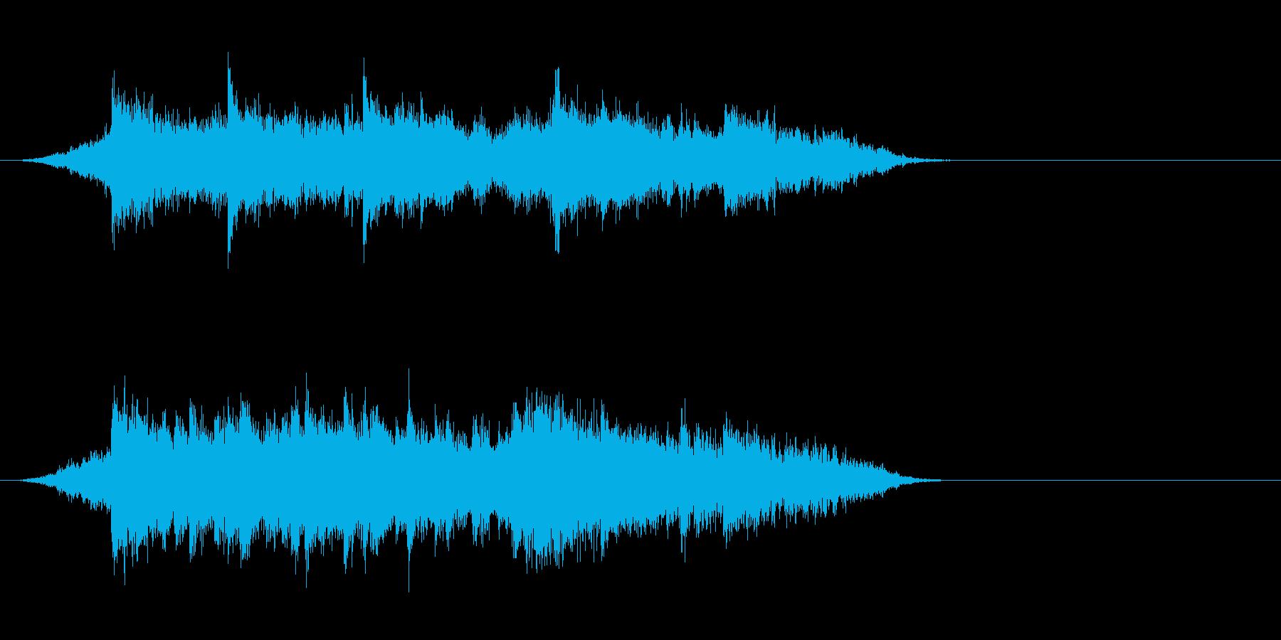 ジングル(ニューエイジ風)の再生済みの波形
