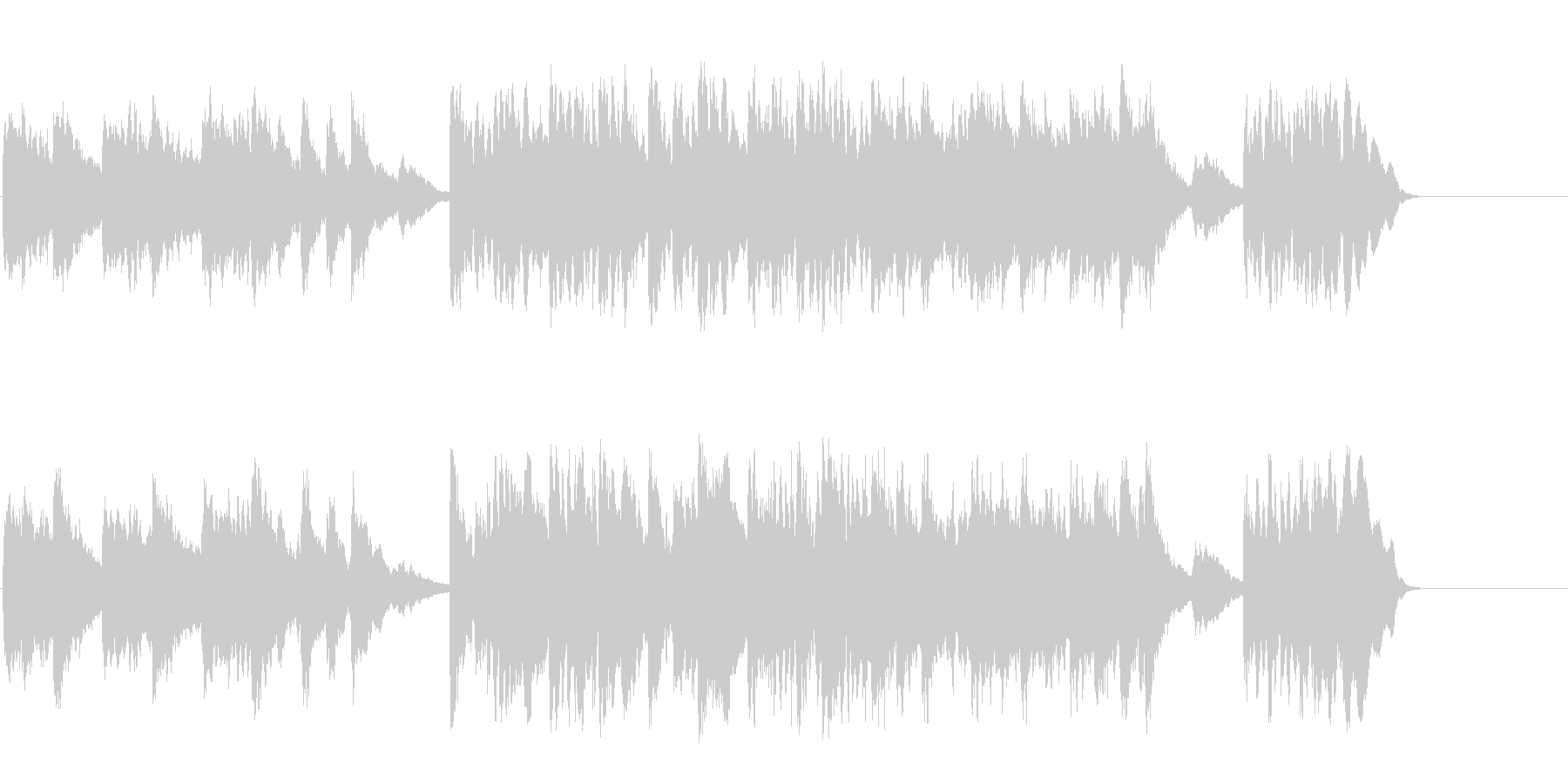透明なポップバラード(A~B~サビ~…)の未再生の波形