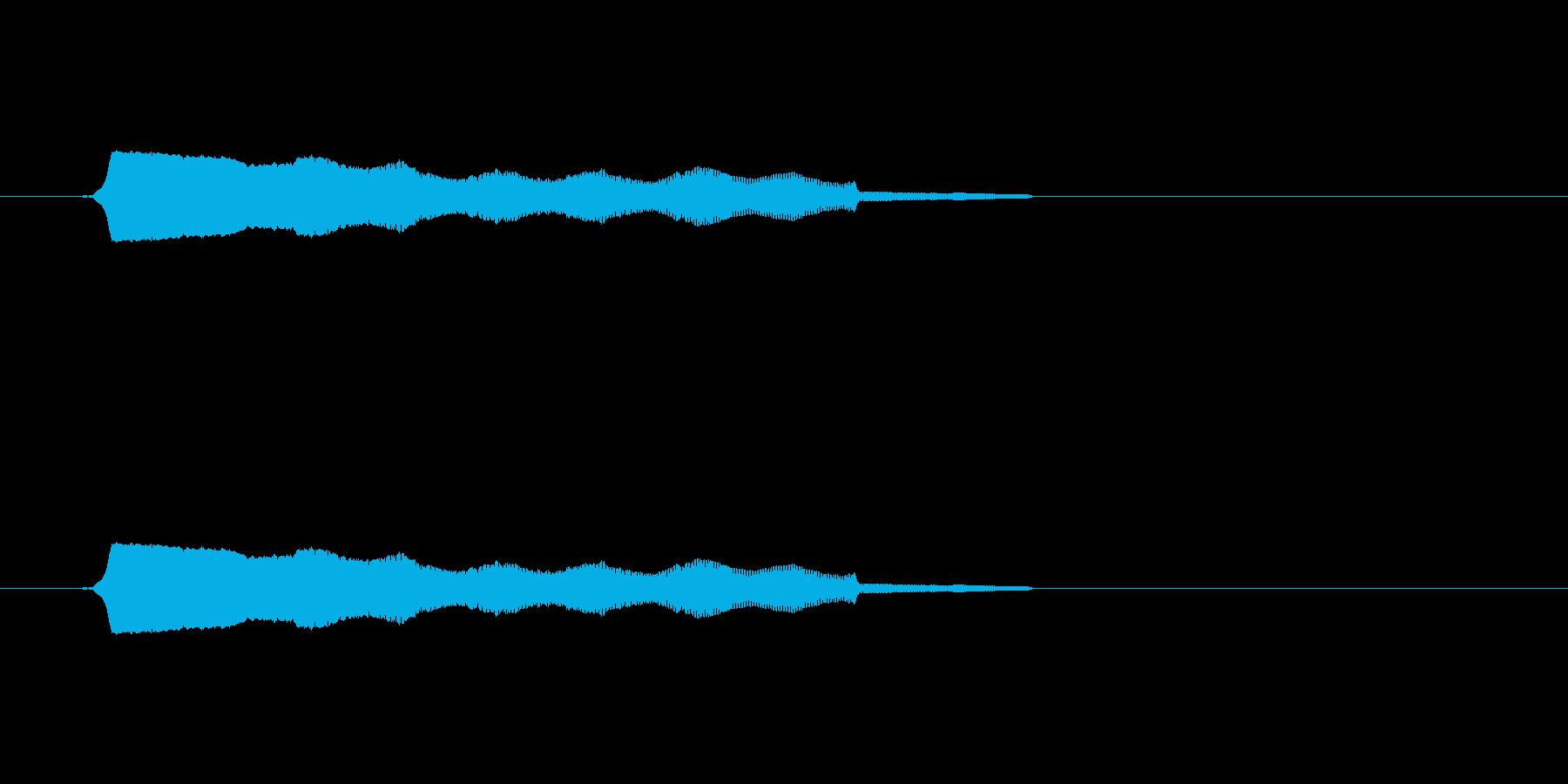 ひゅ~(落下音)の再生済みの波形