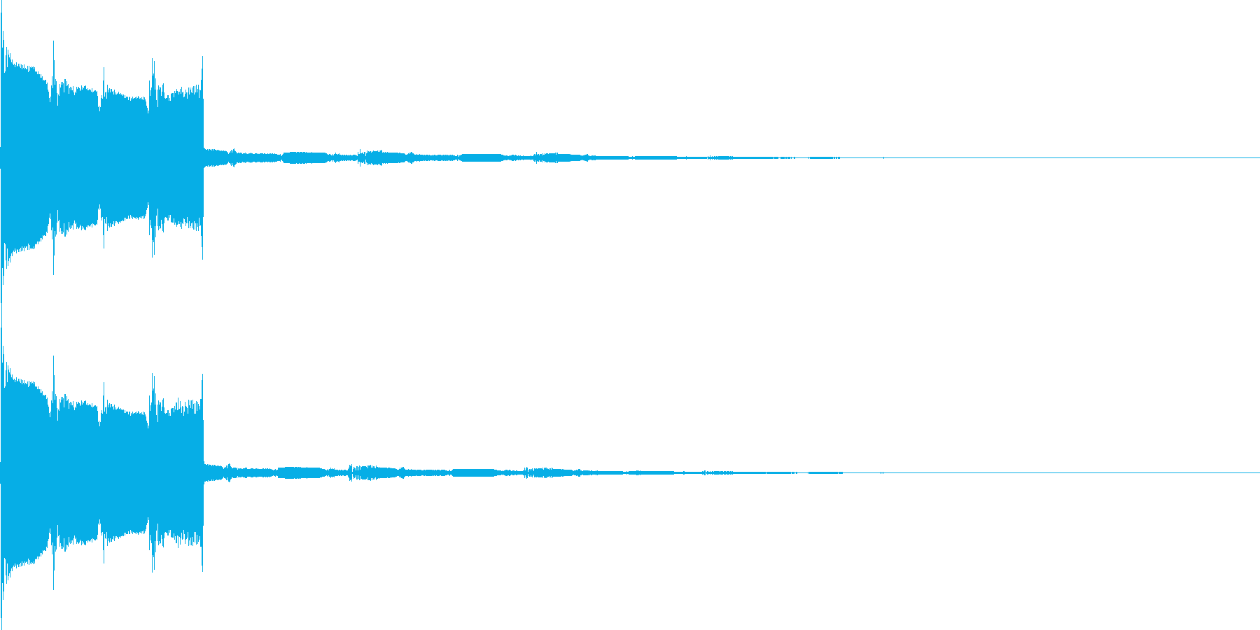 ピロリラン(決定、スタート、アイテム)の再生済みの波形