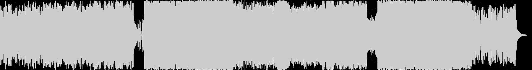 緊迫感有暗く壮大なオーケストラ+8bitの未再生の波形