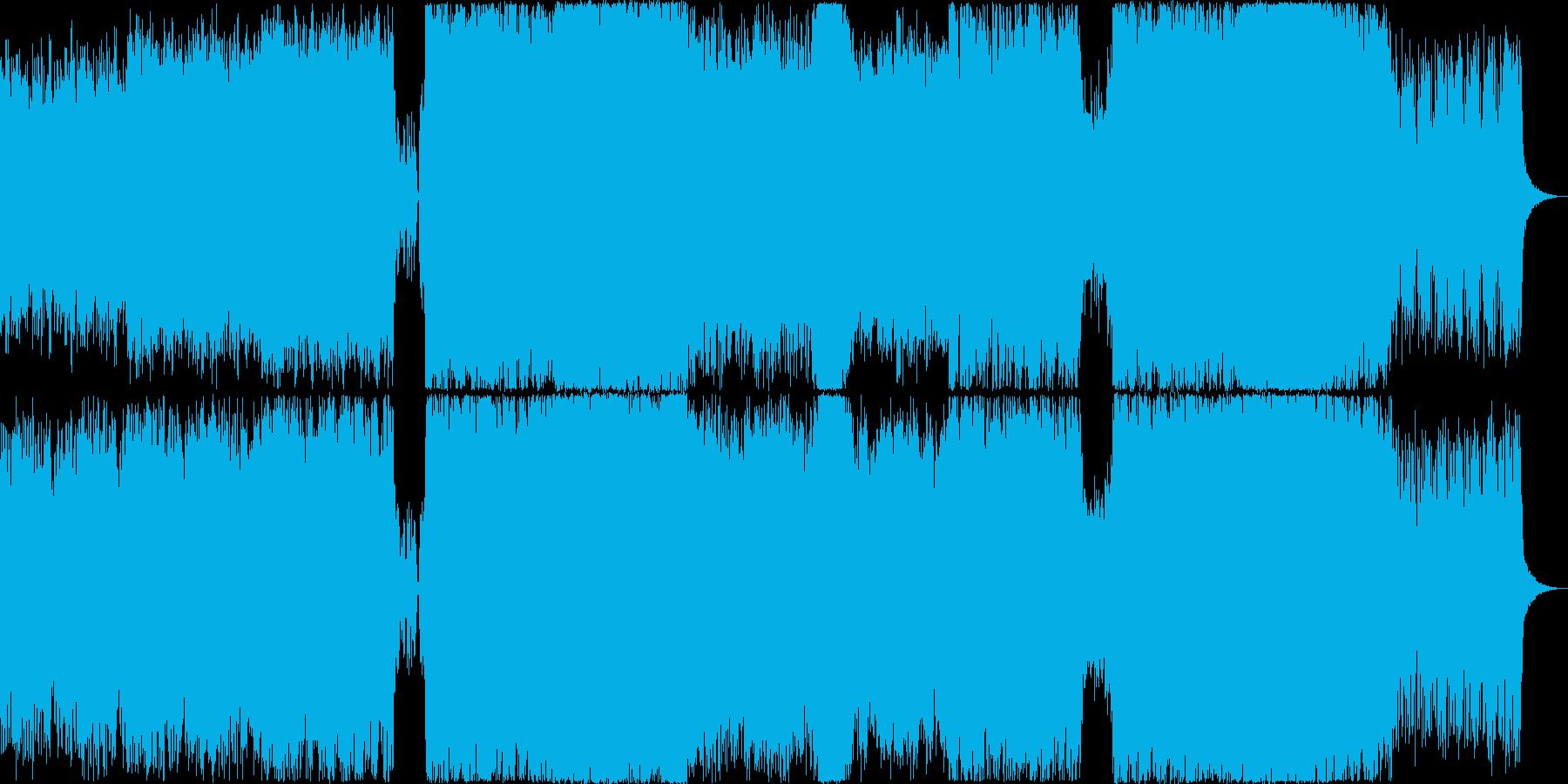 緊迫感有暗く壮大なオーケストラ+8bitの再生済みの波形