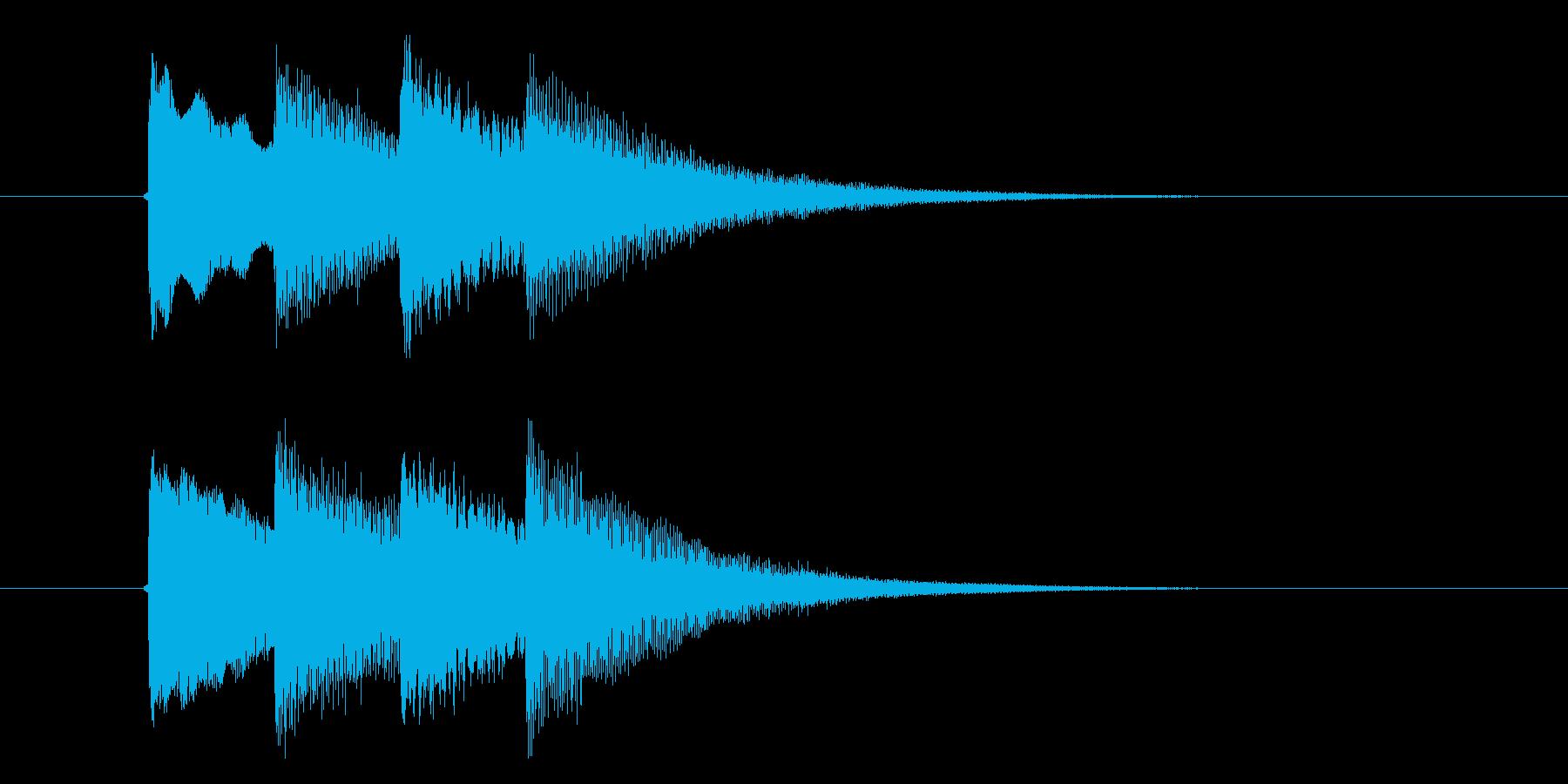 ピンポンパンポン(注目、ベル、お知らせ)の再生済みの波形