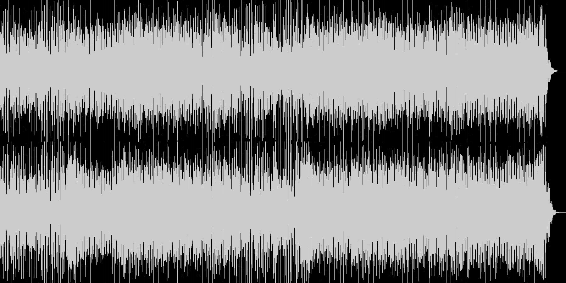 疾走感あふれるテクノ曲の未再生の波形