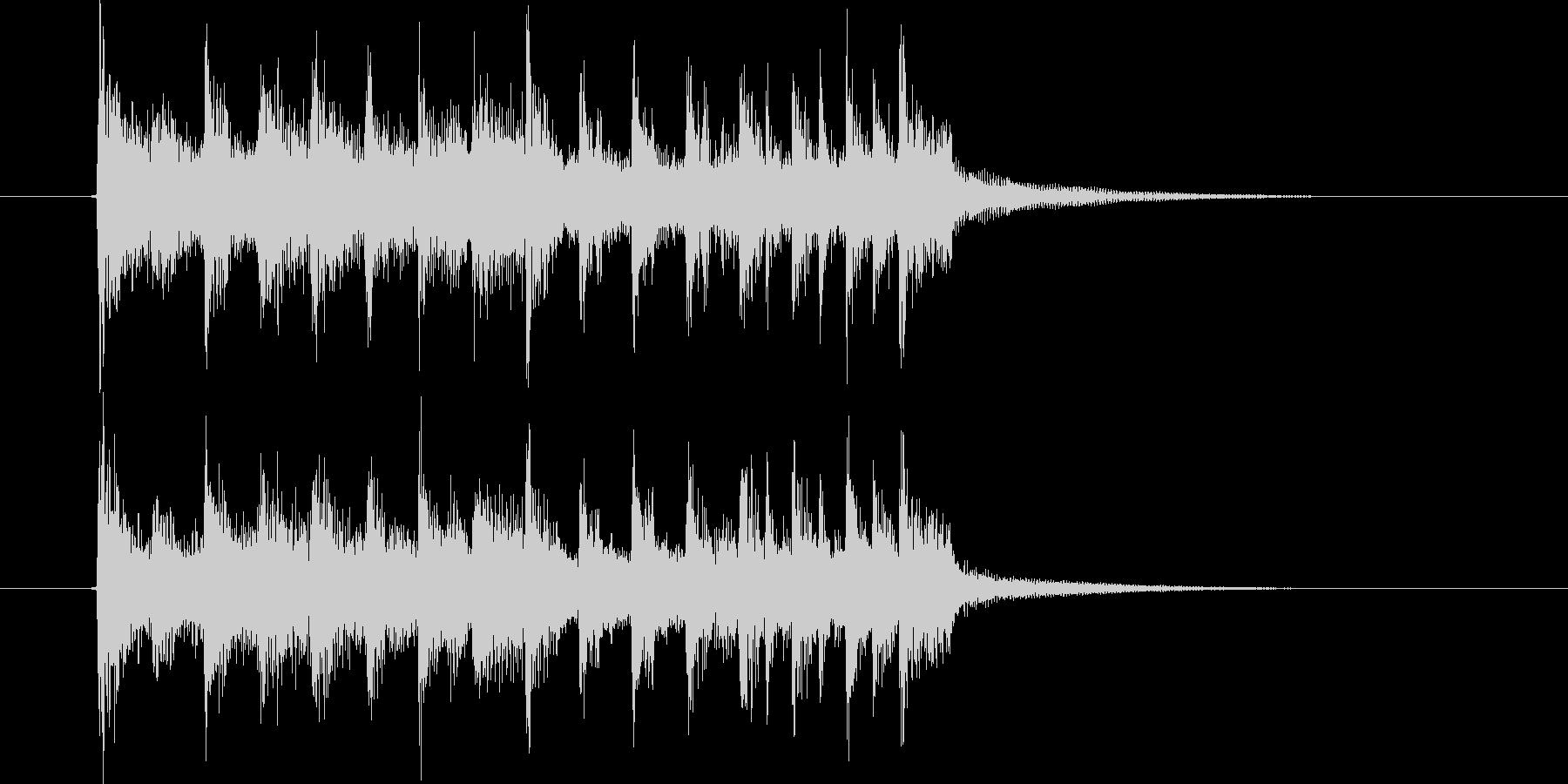 シックなドラムとエレクトーンによるBGMの未再生の波形