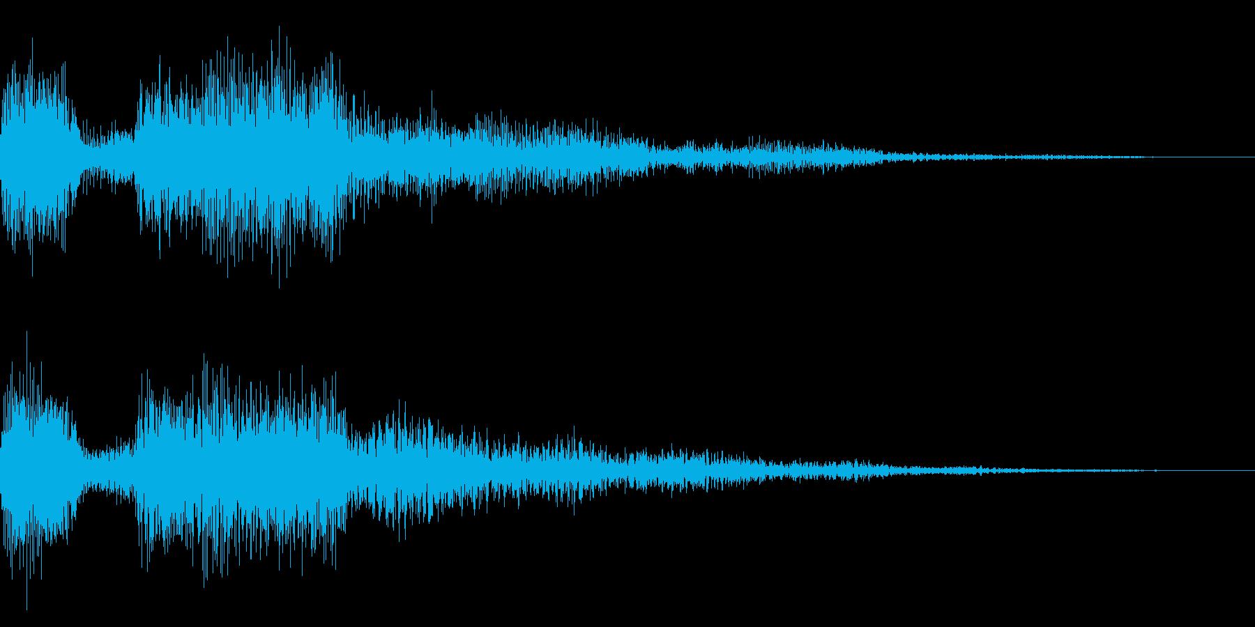ゲームオーバー音 ミス音 失敗 残念の再生済みの波形
