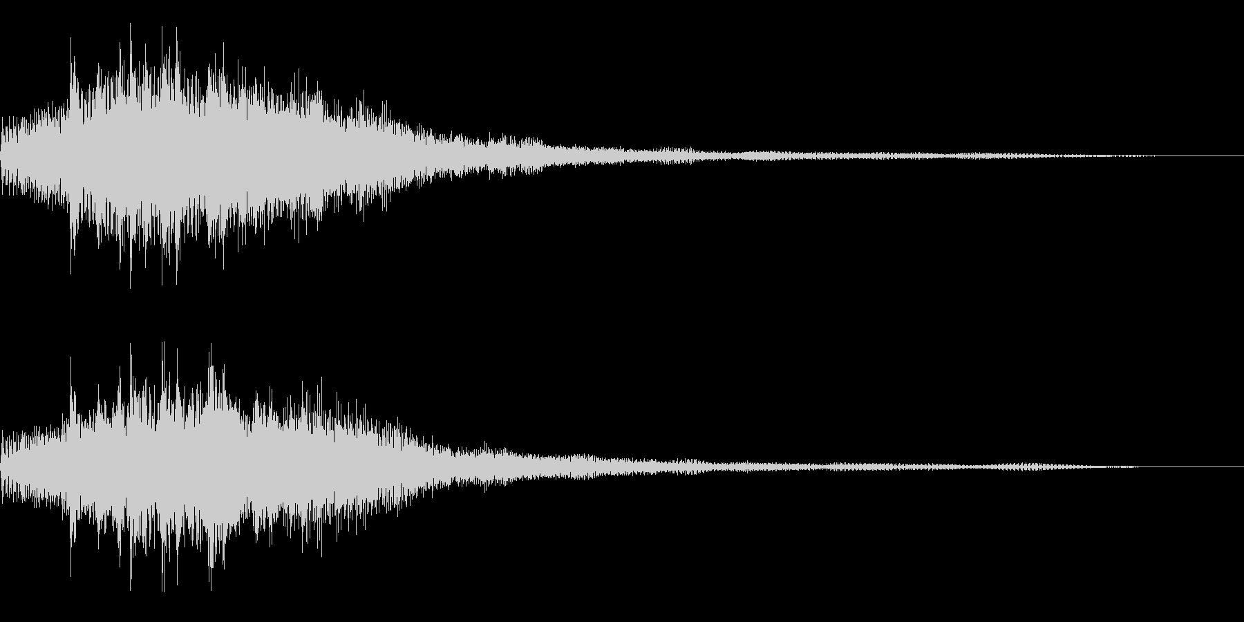 ゲーム機の起動音風サウンドロゴ・ジングルの未再生の波形