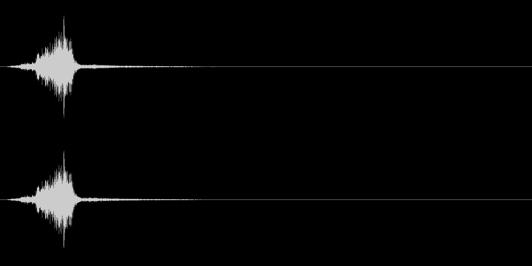 スライド/選択/シュッ/金属音の未再生の波形