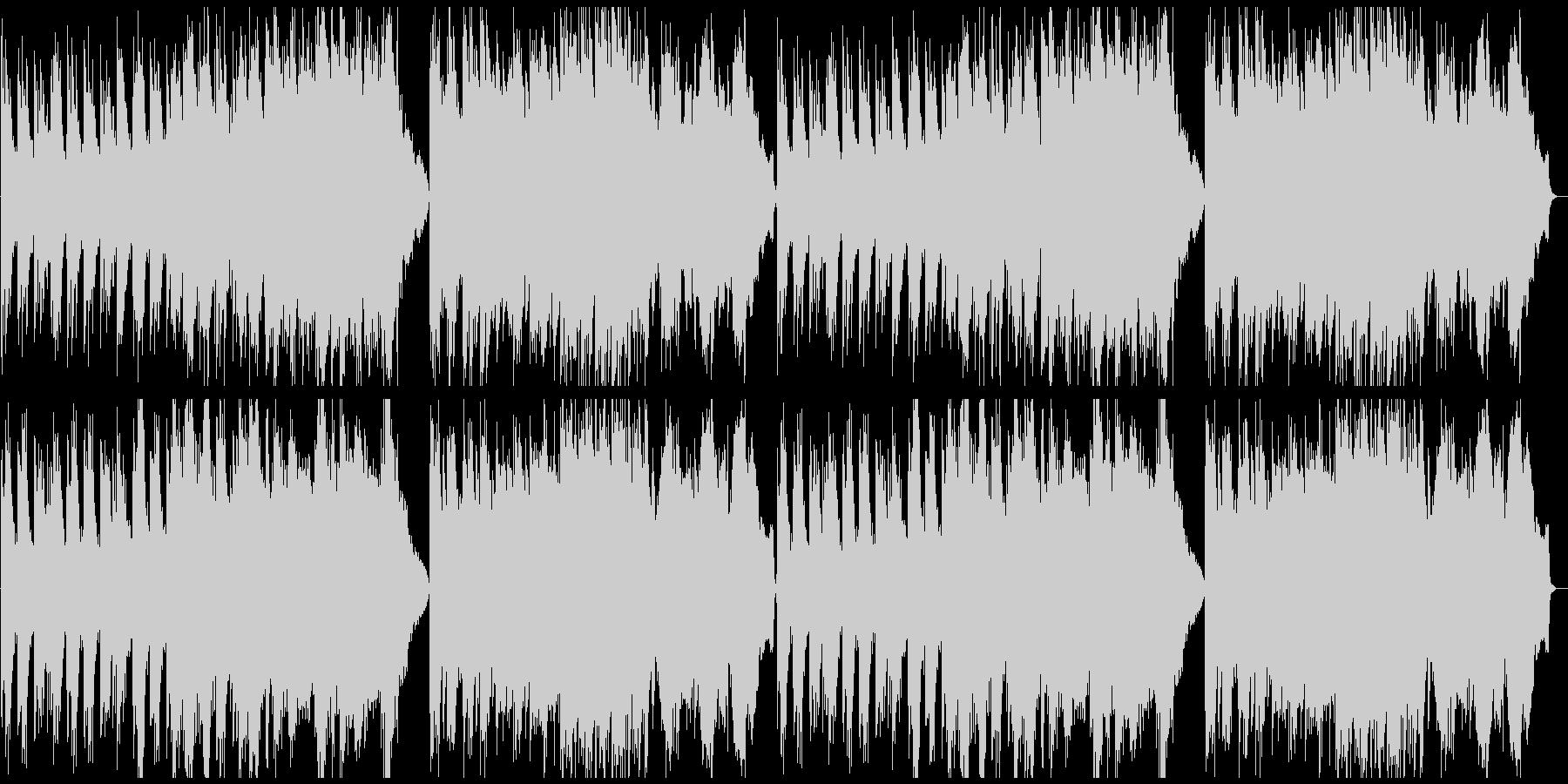 静謐な和風曲の未再生の波形