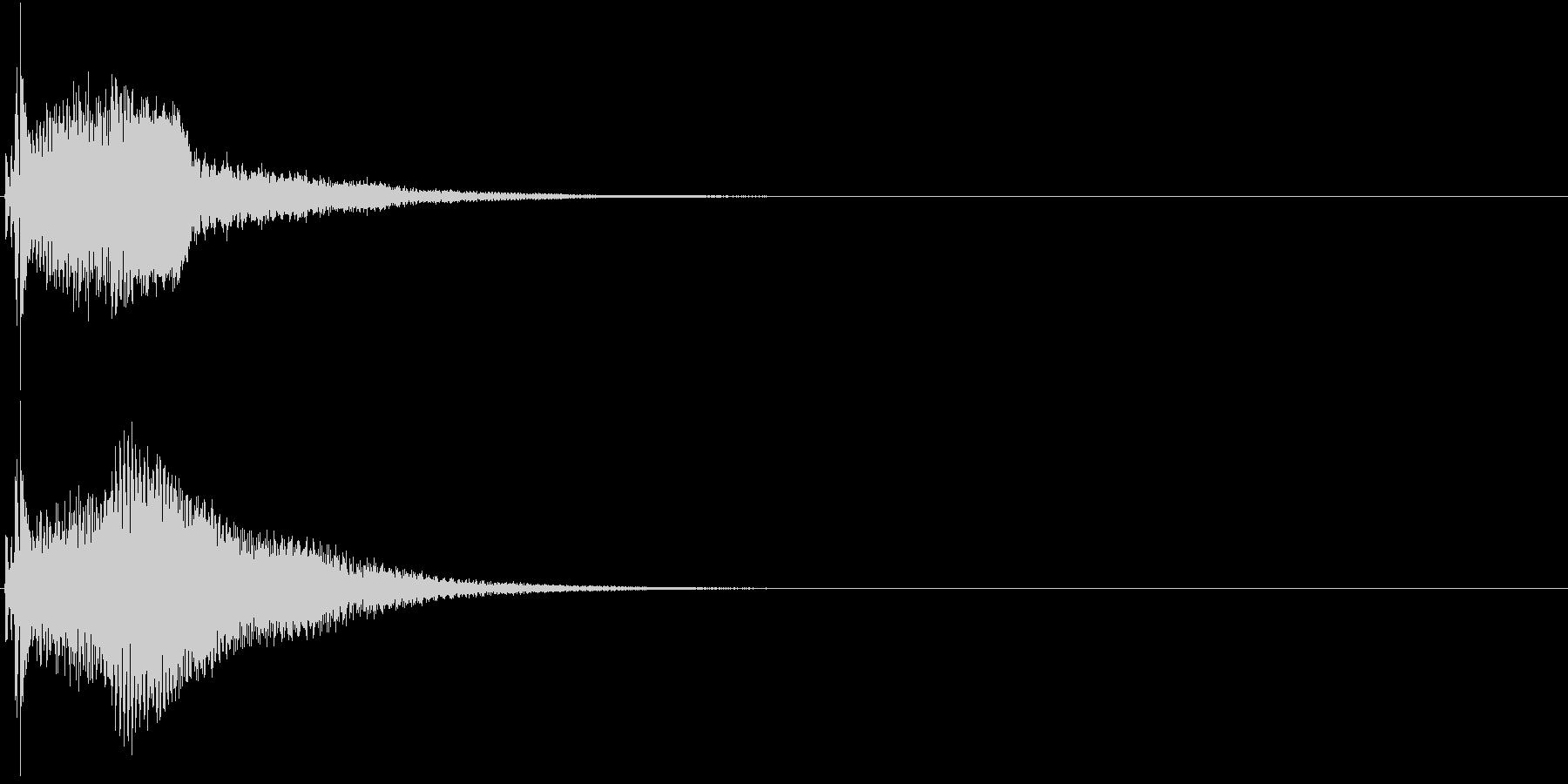 クリック コイン 発見 決定 26の未再生の波形