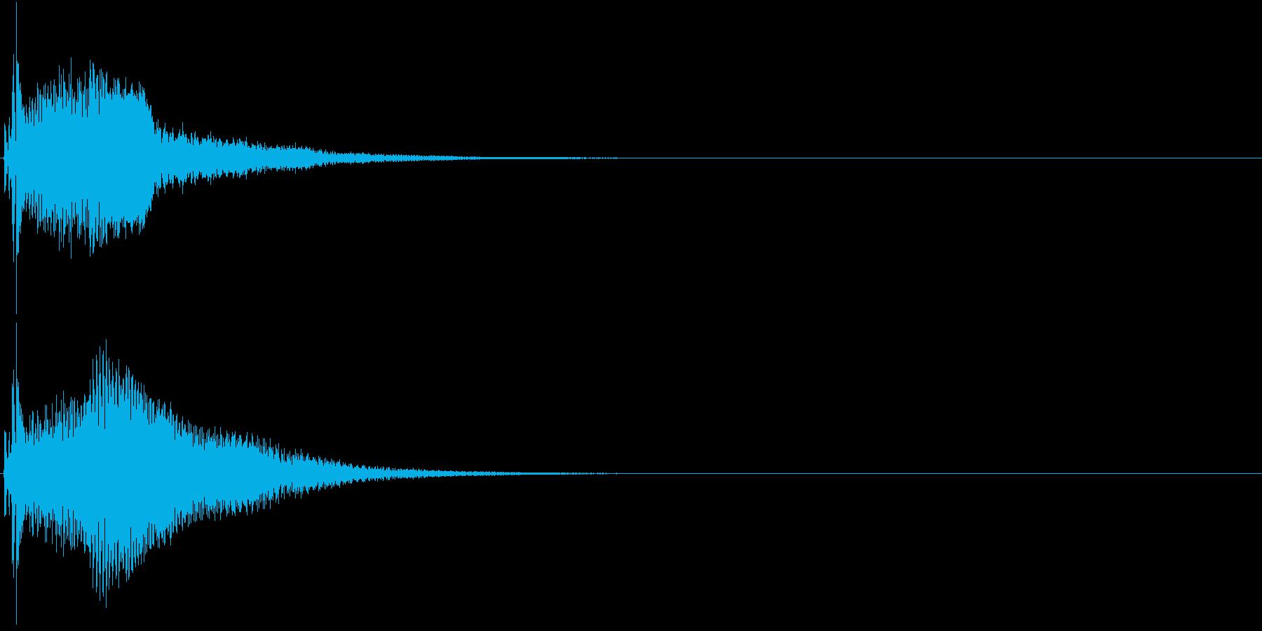 クリック コイン 発見 決定 26の再生済みの波形