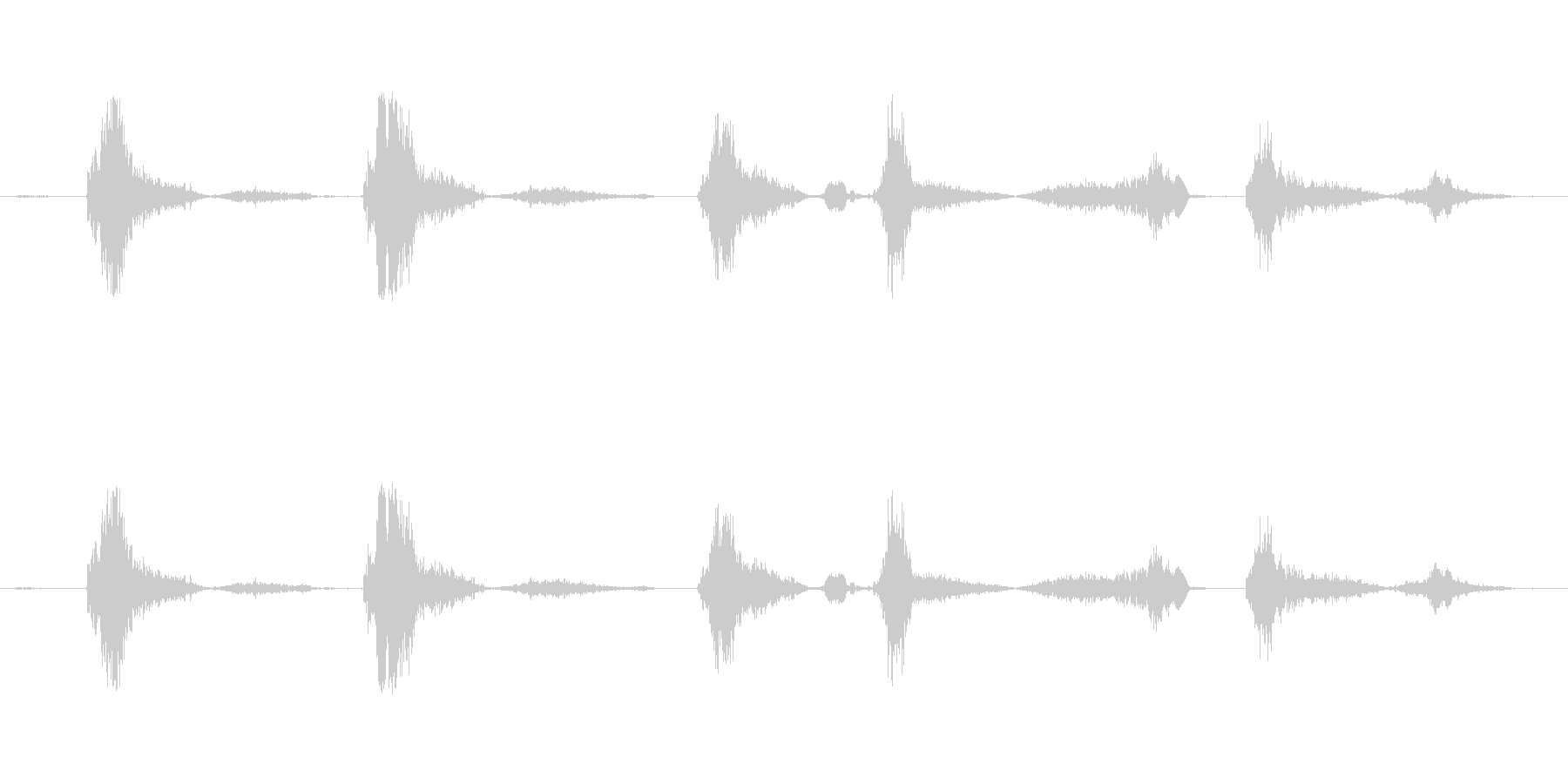 (咳の音)の未再生の波形