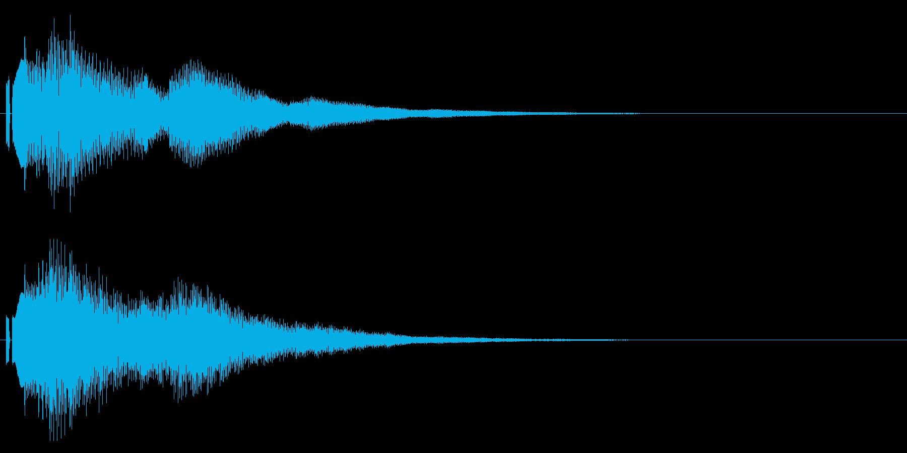 決定音。シンセ。「ポローン」の再生済みの波形