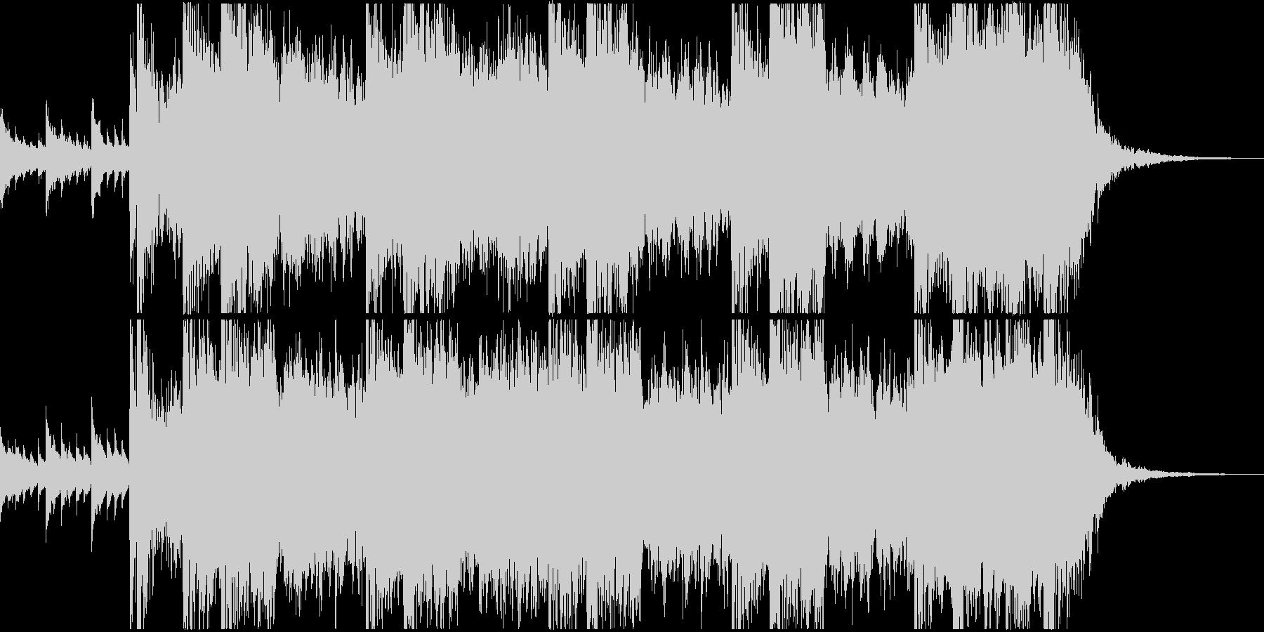 和風 歴史 壮大な曲の未再生の波形