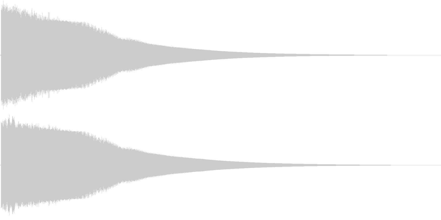 剣 ヒット音の未再生の波形