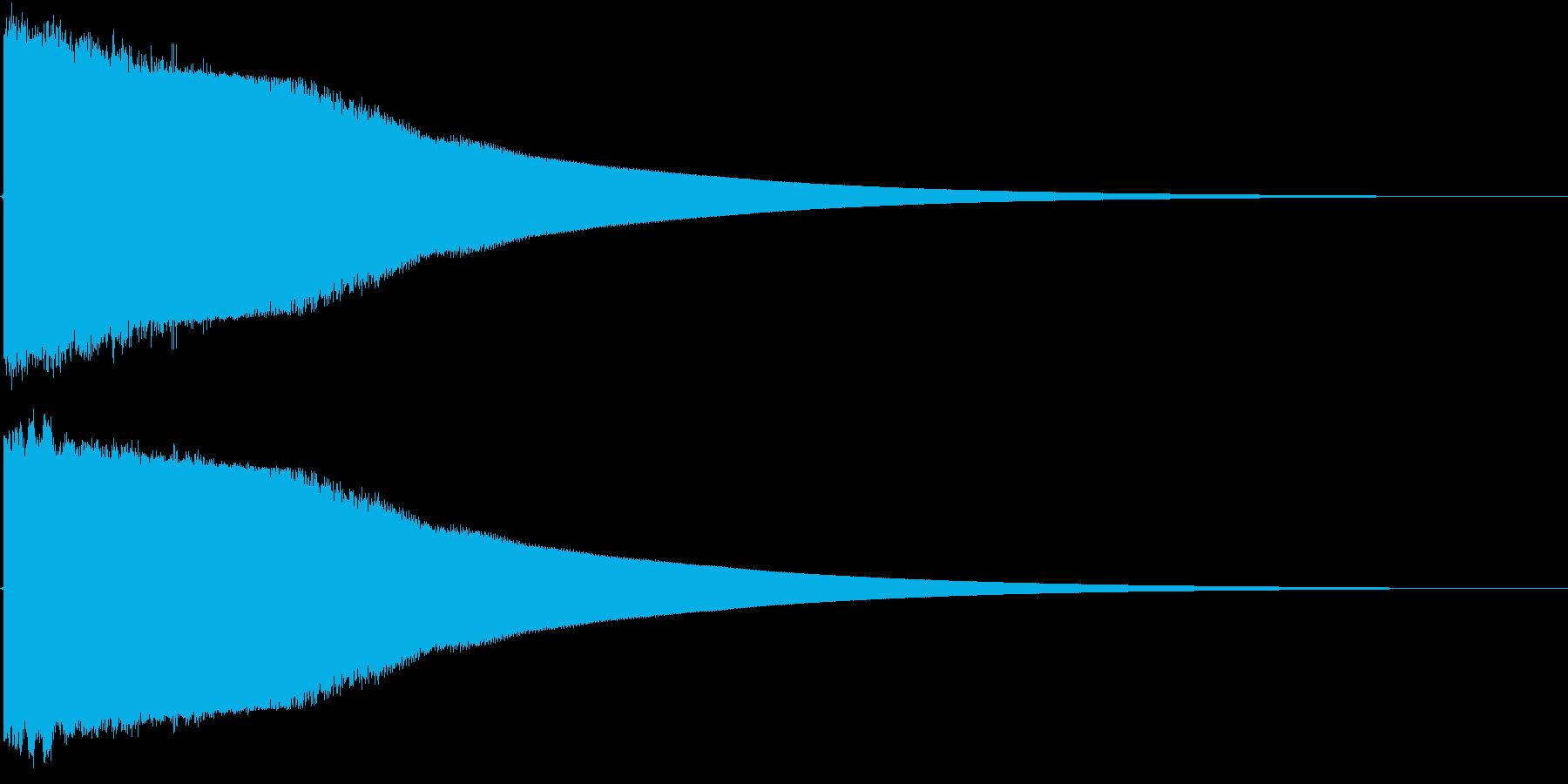 剣 ヒット音の再生済みの波形