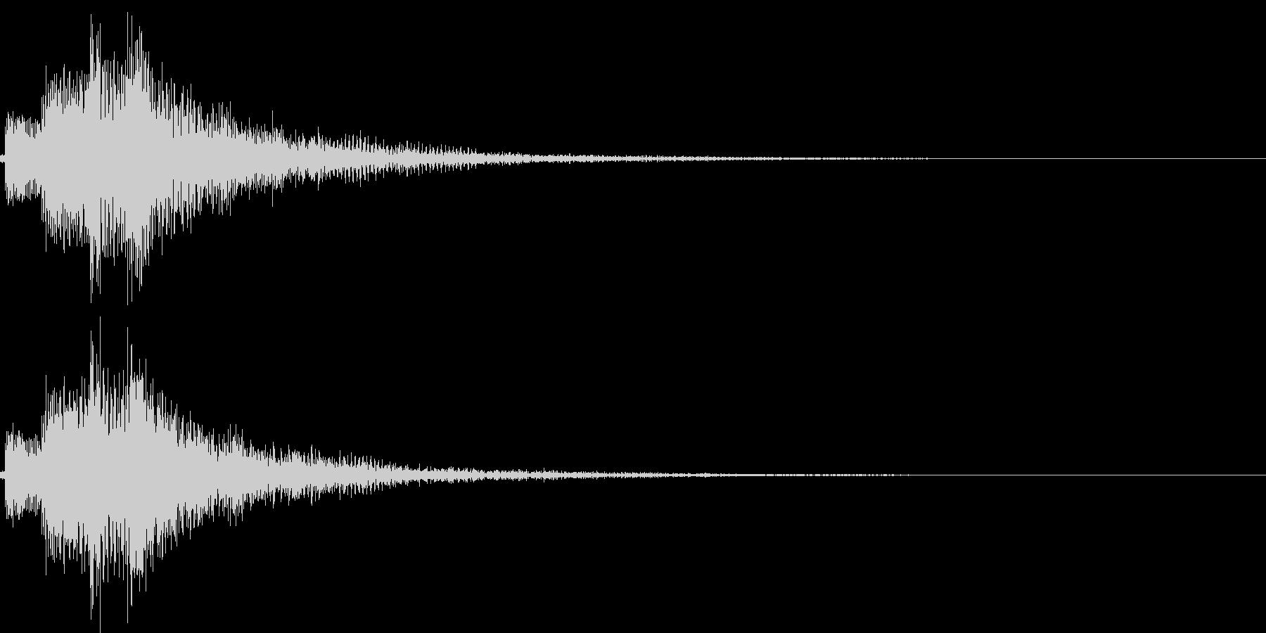 ジャラン低音(スタート 選択 登場)の未再生の波形