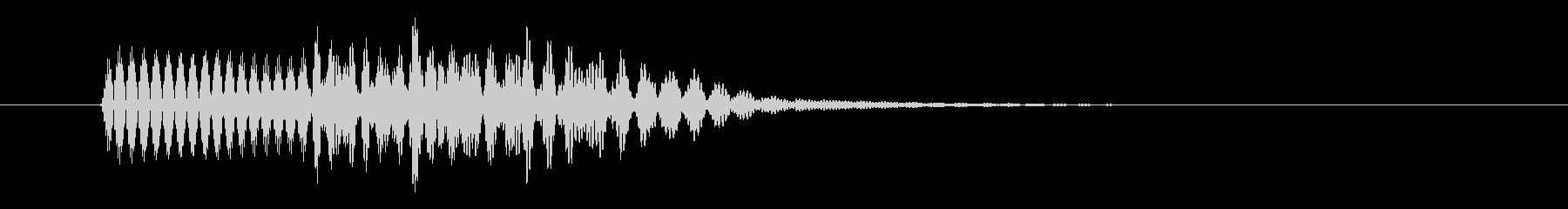ピロリ キャンセル音 01 低音の未再生の波形