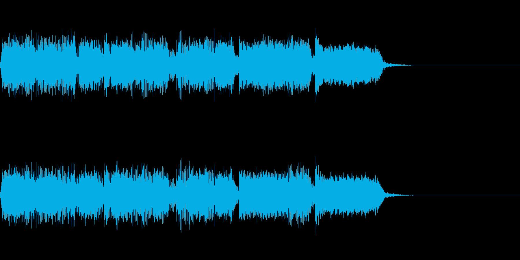 Guitarジングル2元気なハードロックの再生済みの波形