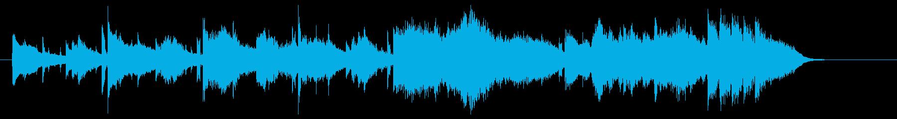 ゆったりとまろやかなバイオリンジングルの再生済みの波形