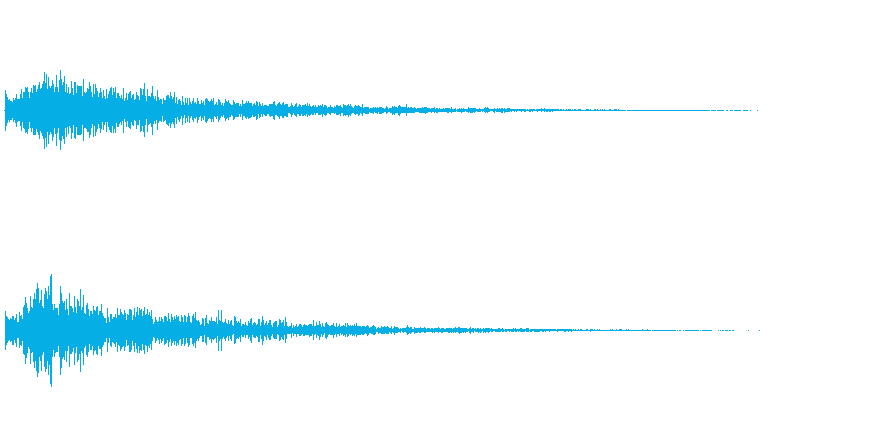 「サスペンス的な衝撃音」の再生済みの波形