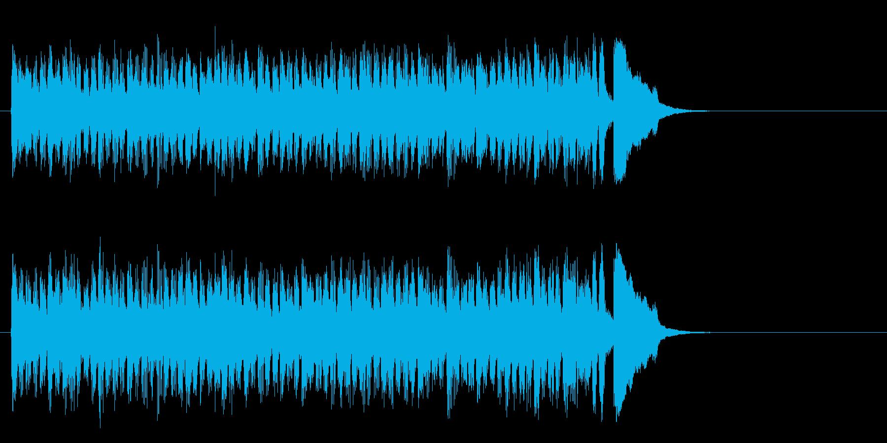 元気なヒューマンポップス(サビ)の再生済みの波形