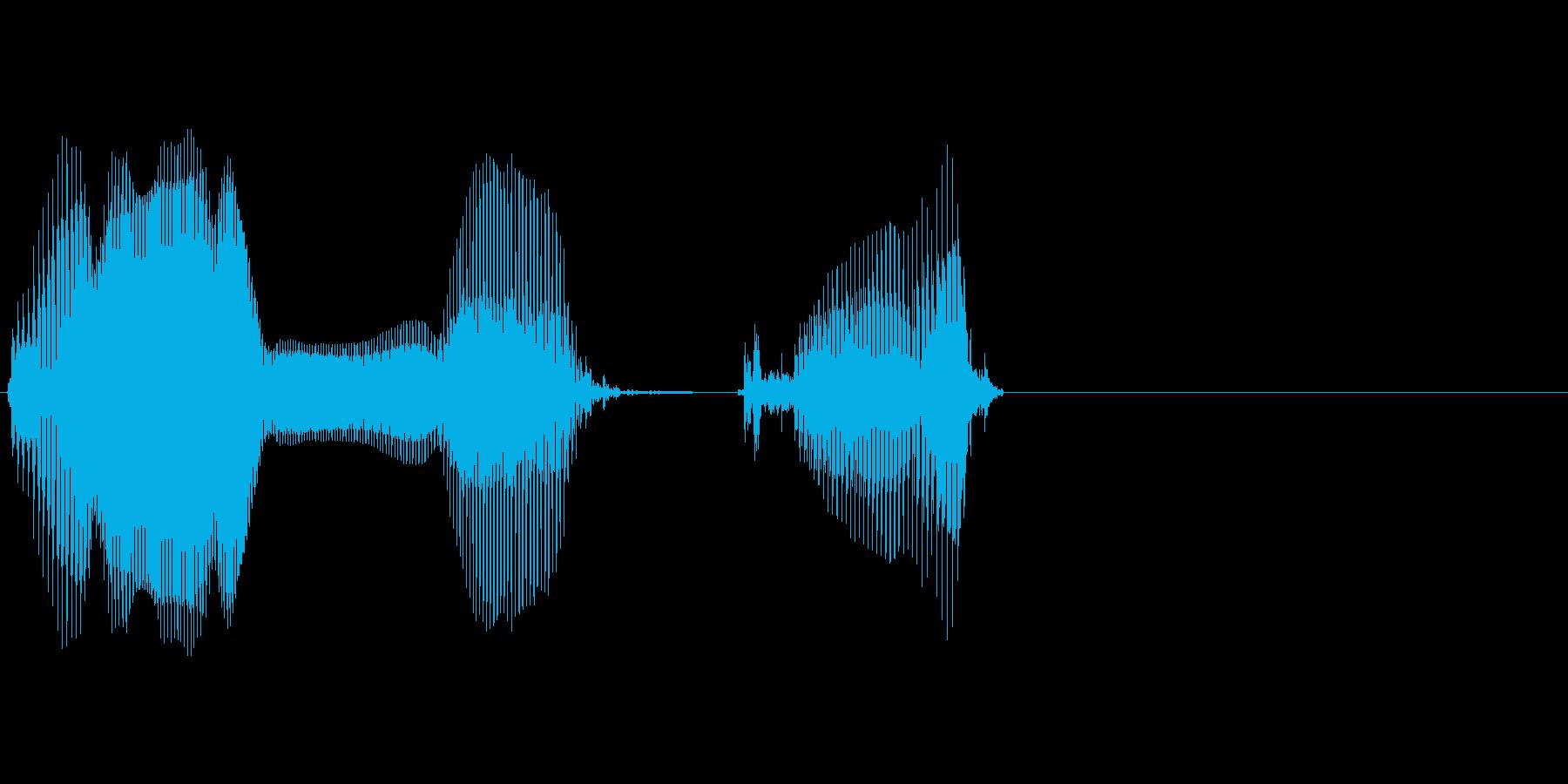 音楽の再生済みの波形