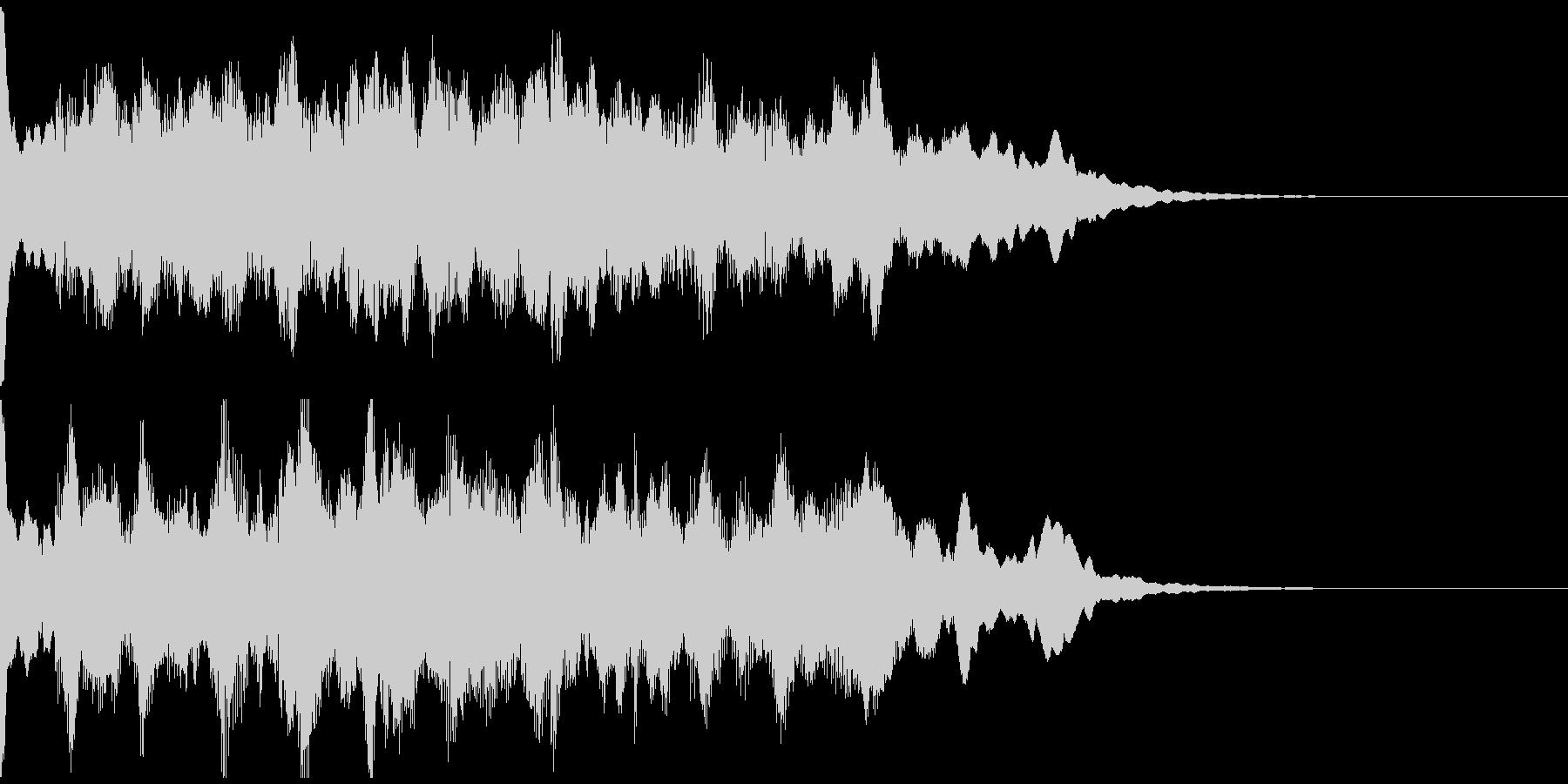 サウンドロゴ、5秒CM、場面転換verAの未再生の波形