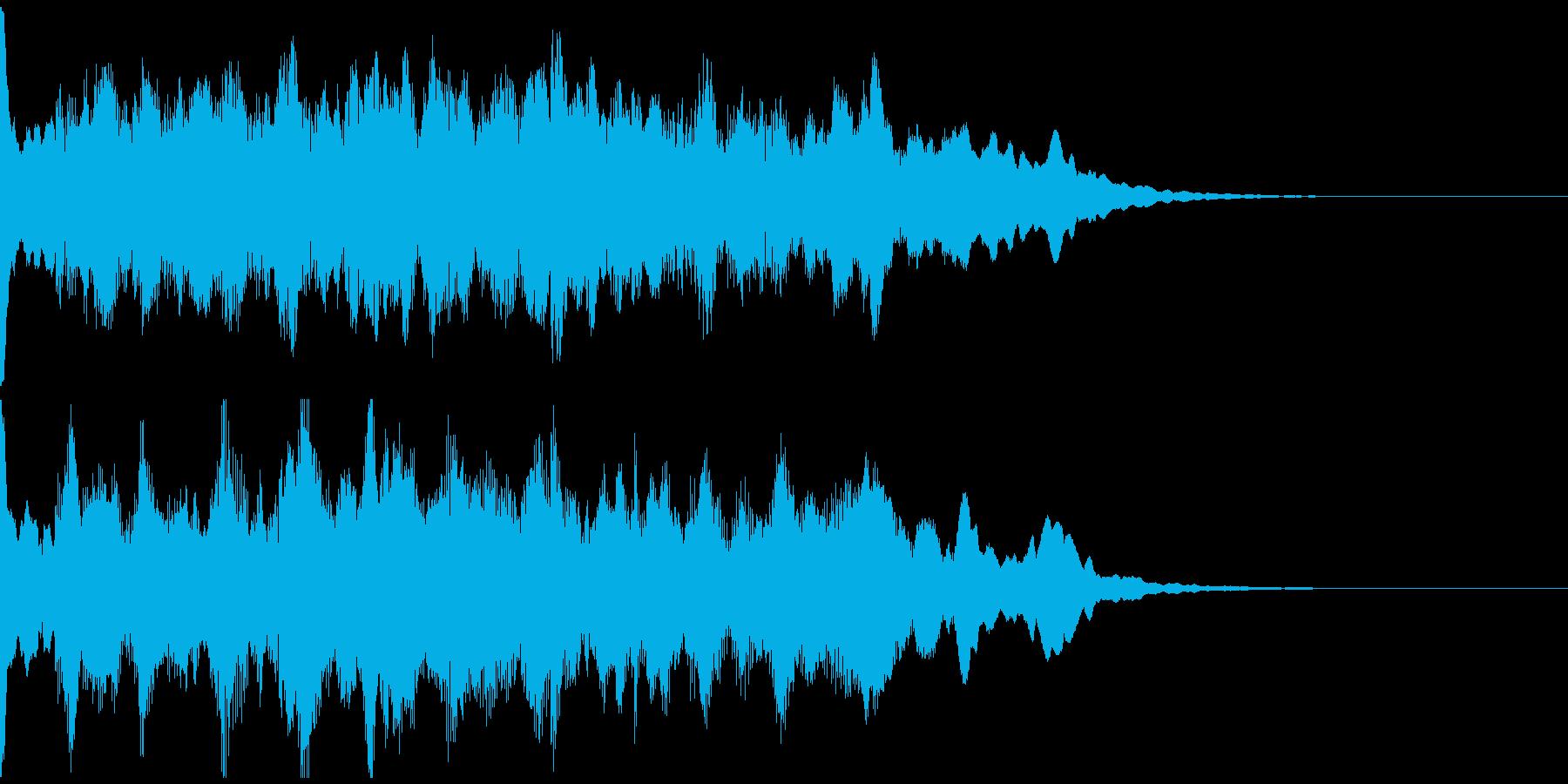 サウンドロゴ、5秒CM、場面転換verAの再生済みの波形