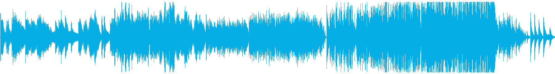 童謡の「ふるさと」インスト曲アレンジの再生済みの波形