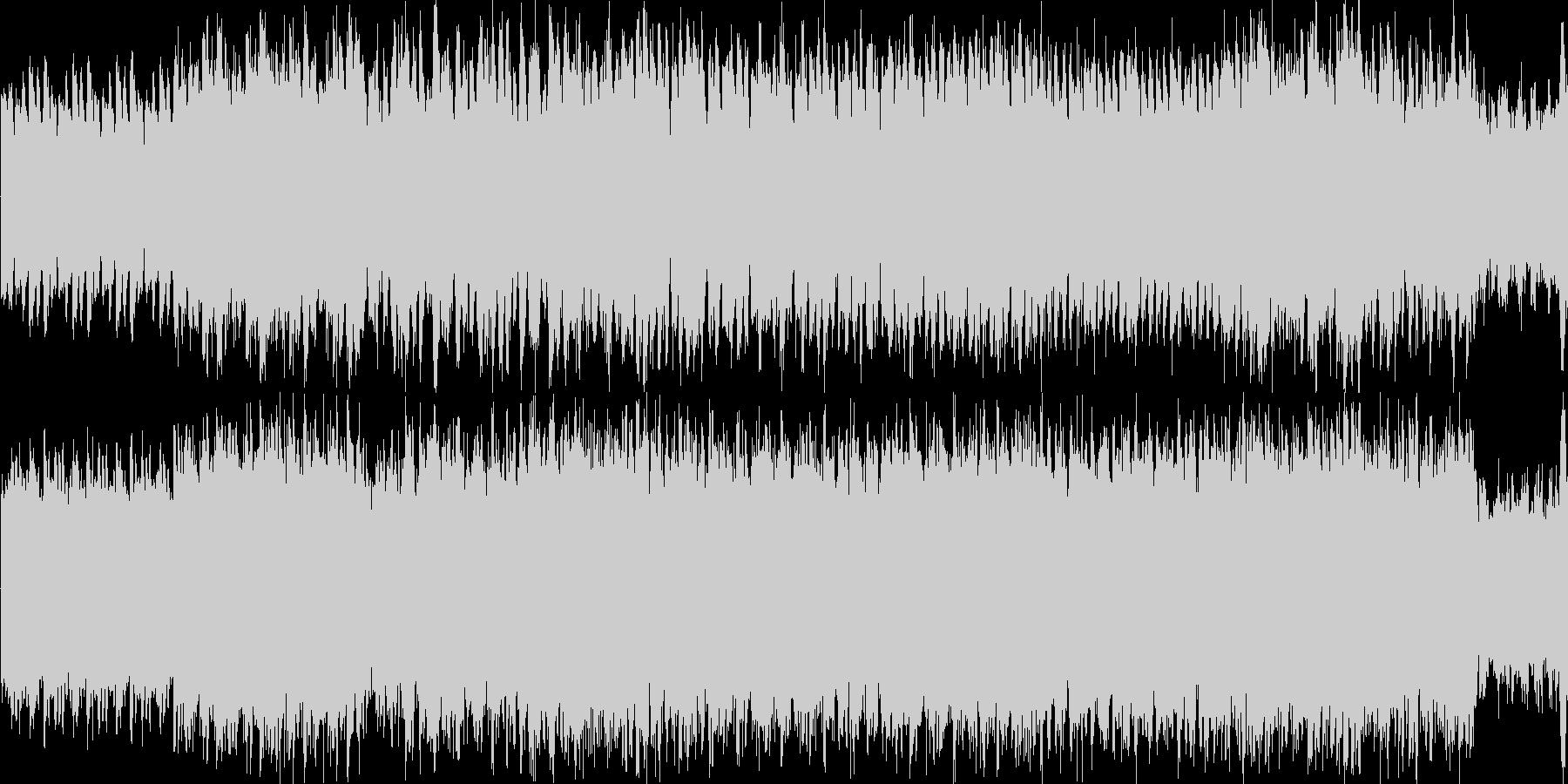 ミステリアスなシーンのバックミュージックの未再生の波形