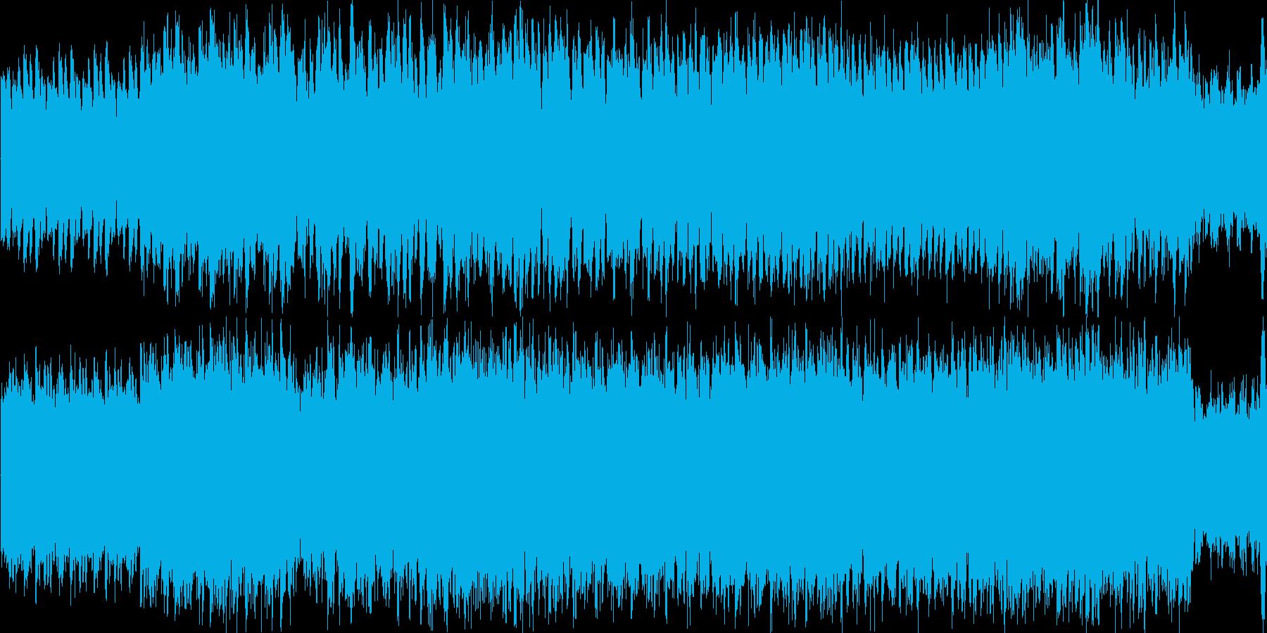 ミステリアスなシーンのバックミュージックの再生済みの波形