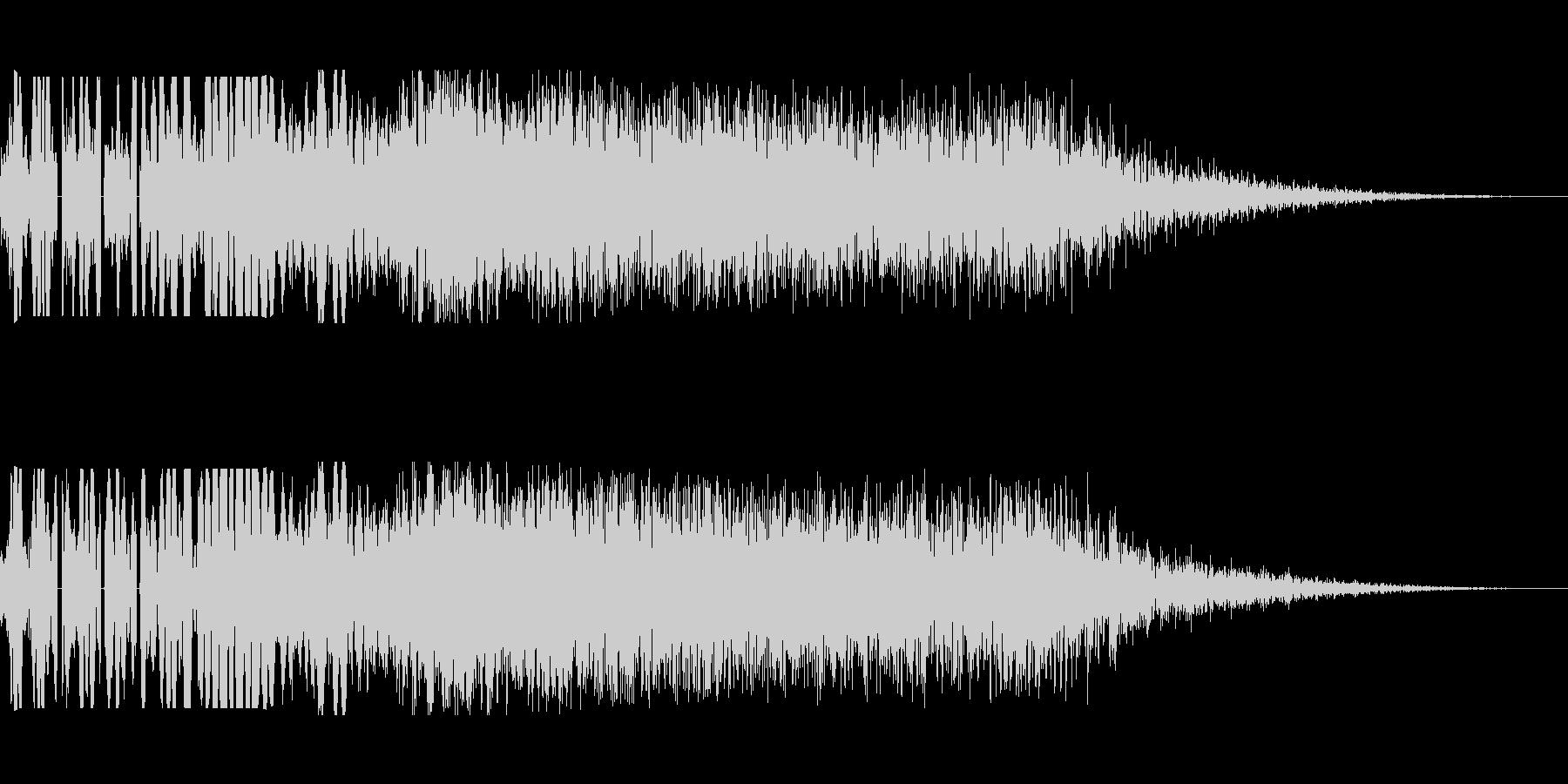 ハイキック(会心の一撃)の未再生の波形