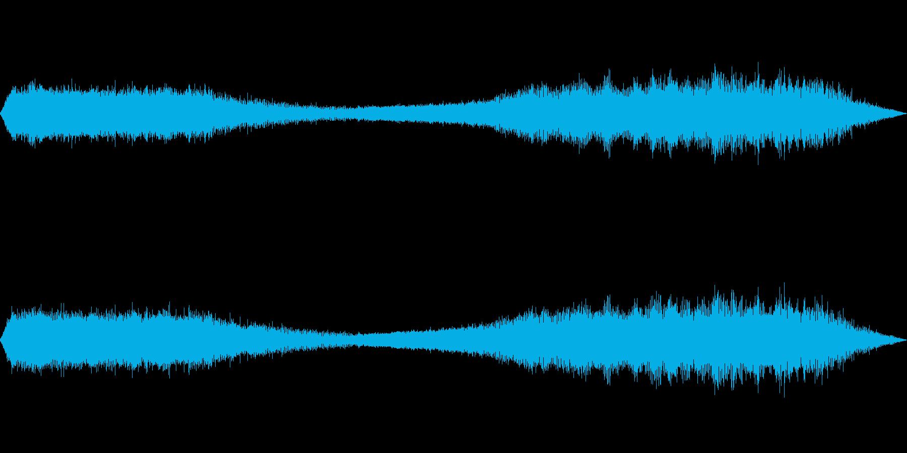 夏の音(セミの鳴き声)の再生済みの波形