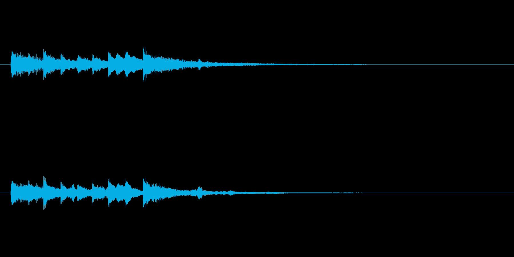 パソコンやスマホアプリの起動音の再生済みの波形