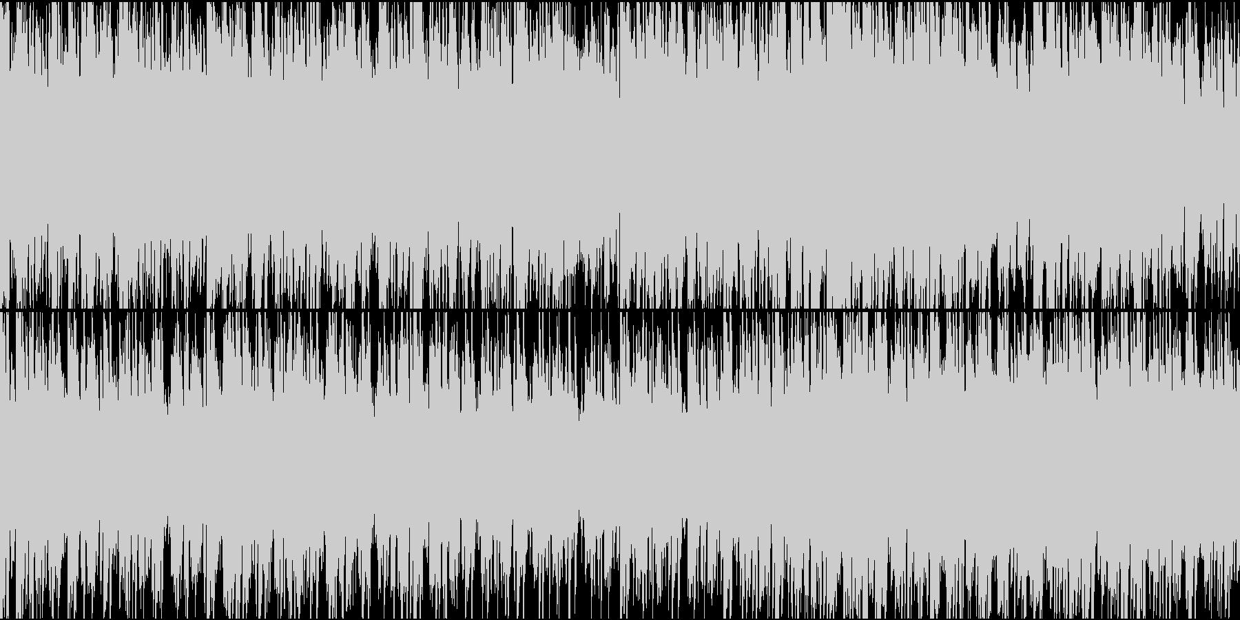 冷たい雰囲気のBGMの未再生の波形