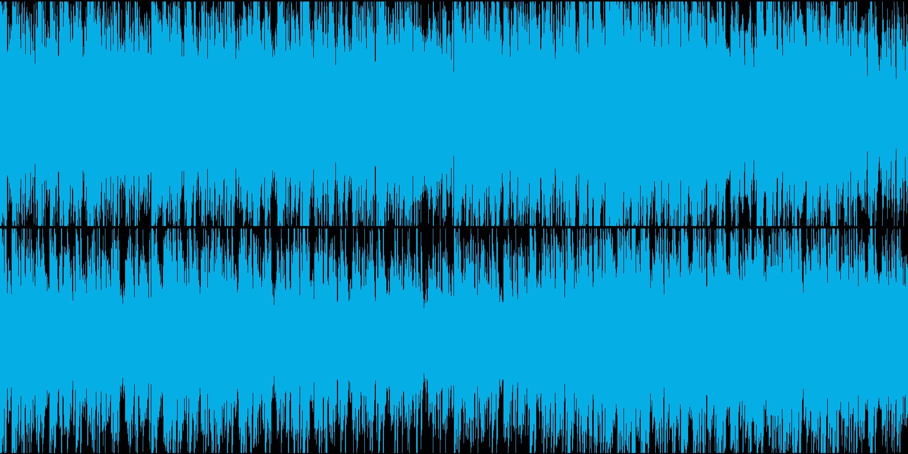 冷たい雰囲気のBGMの再生済みの波形