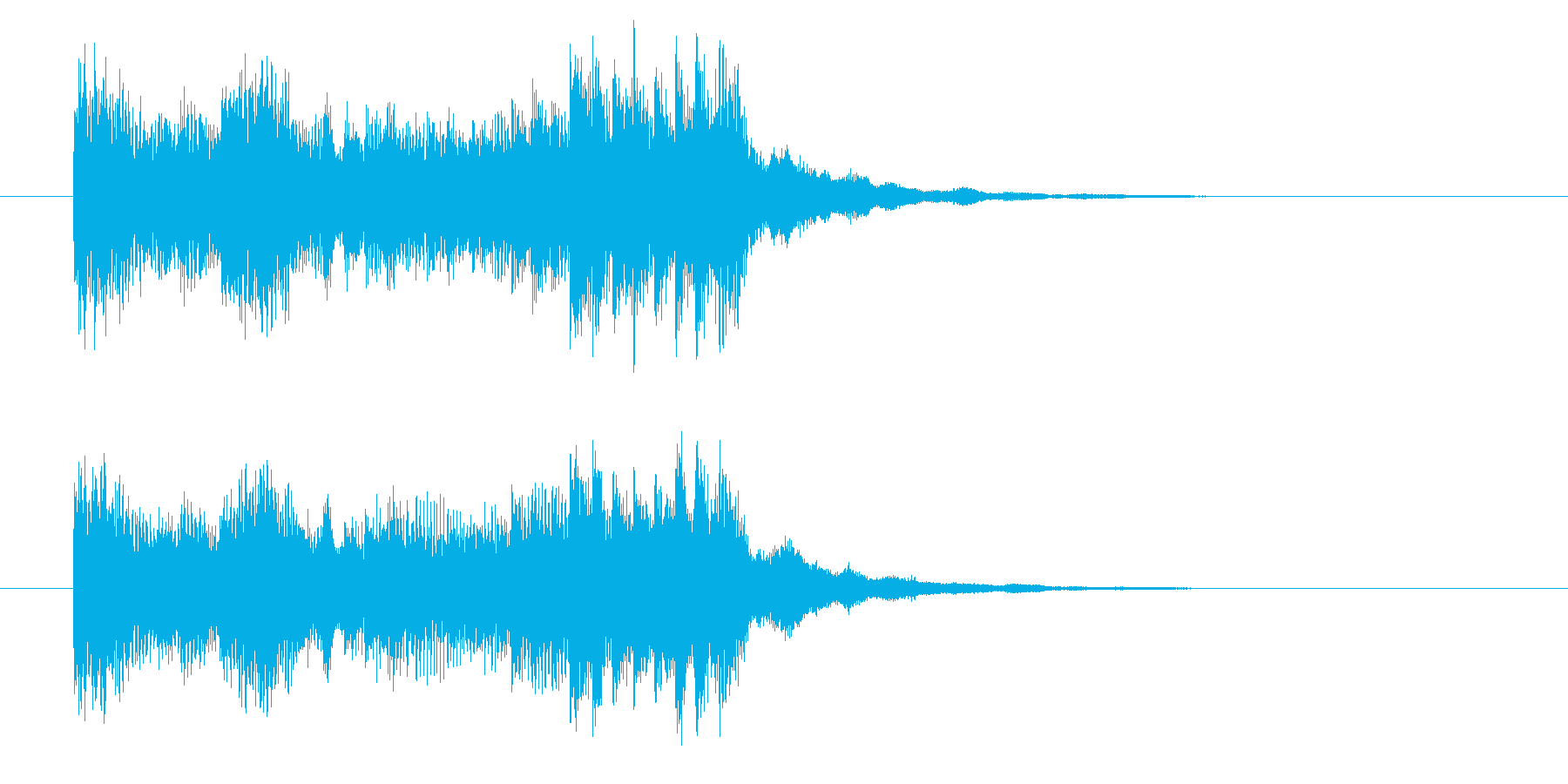 ヘビーでワイルドなシンセロックジングルの再生済みの波形