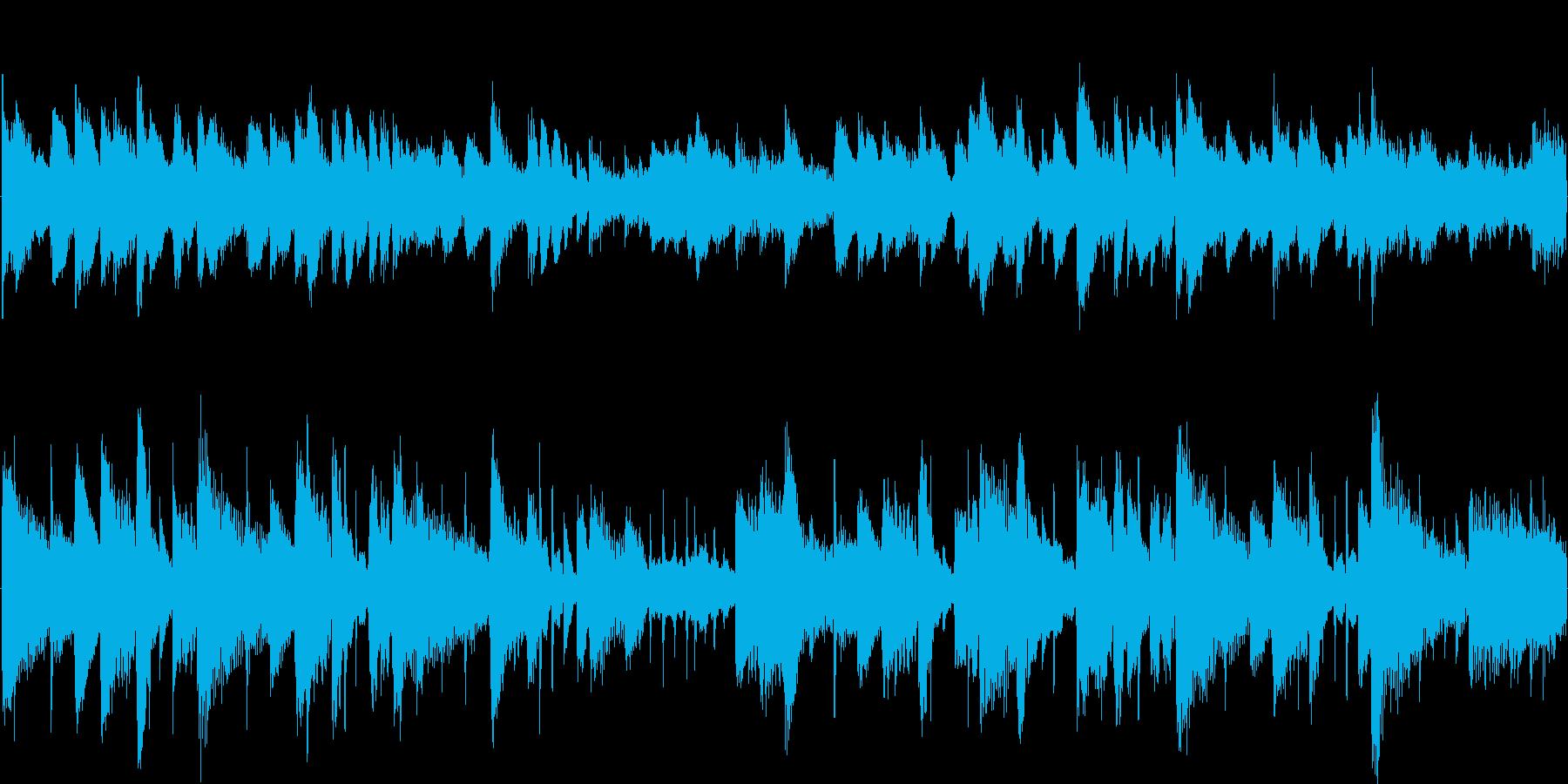 ブランドイメージCMに最適な爽やかな楽曲の再生済みの波形