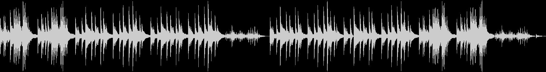 ヒーリング、静かなソロピアノの未再生の波形