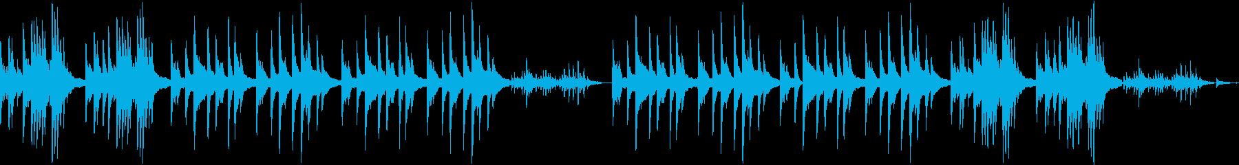ヒーリング、静かなソロピアノの再生済みの波形