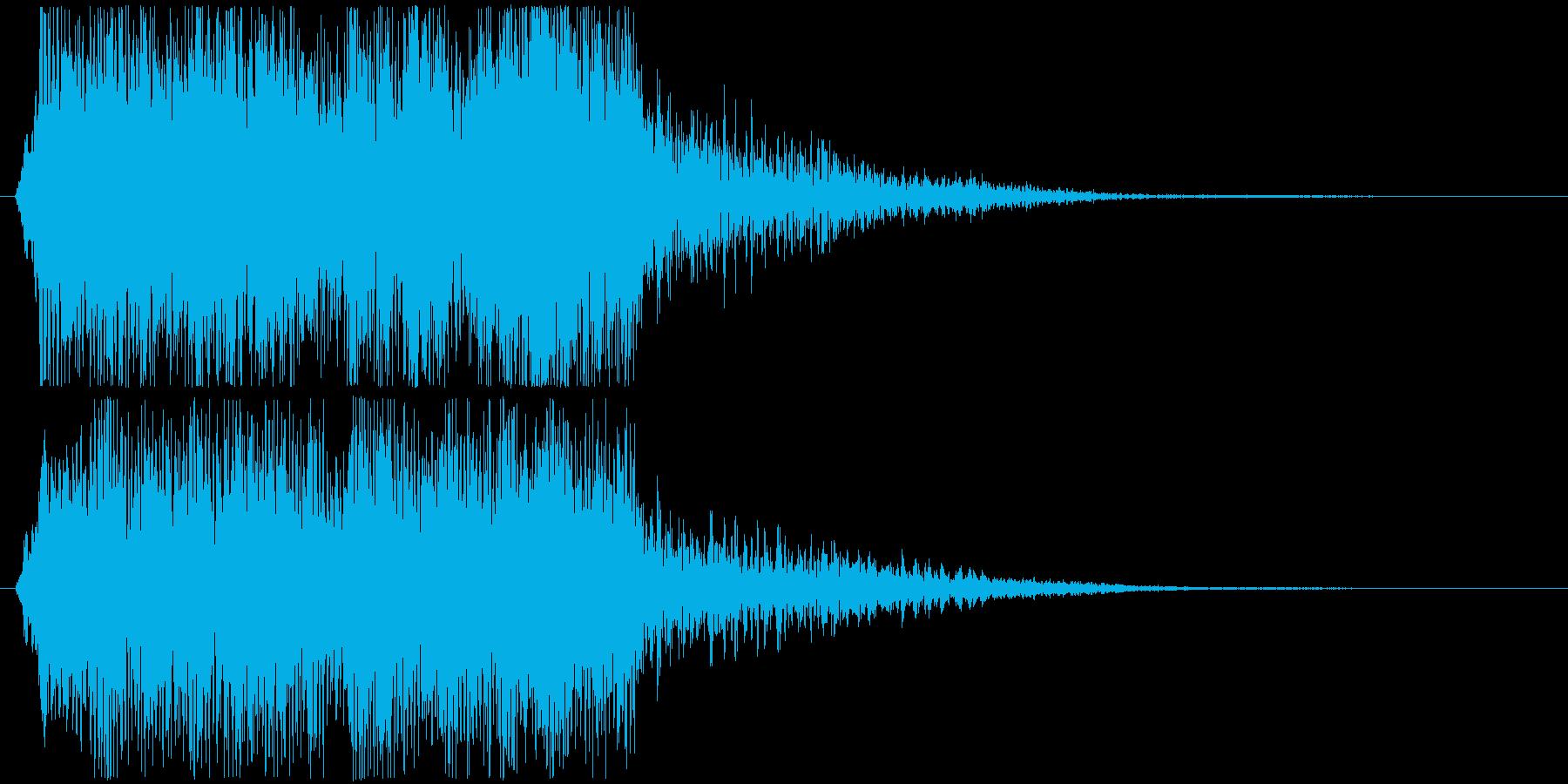 むかむかっの再生済みの波形