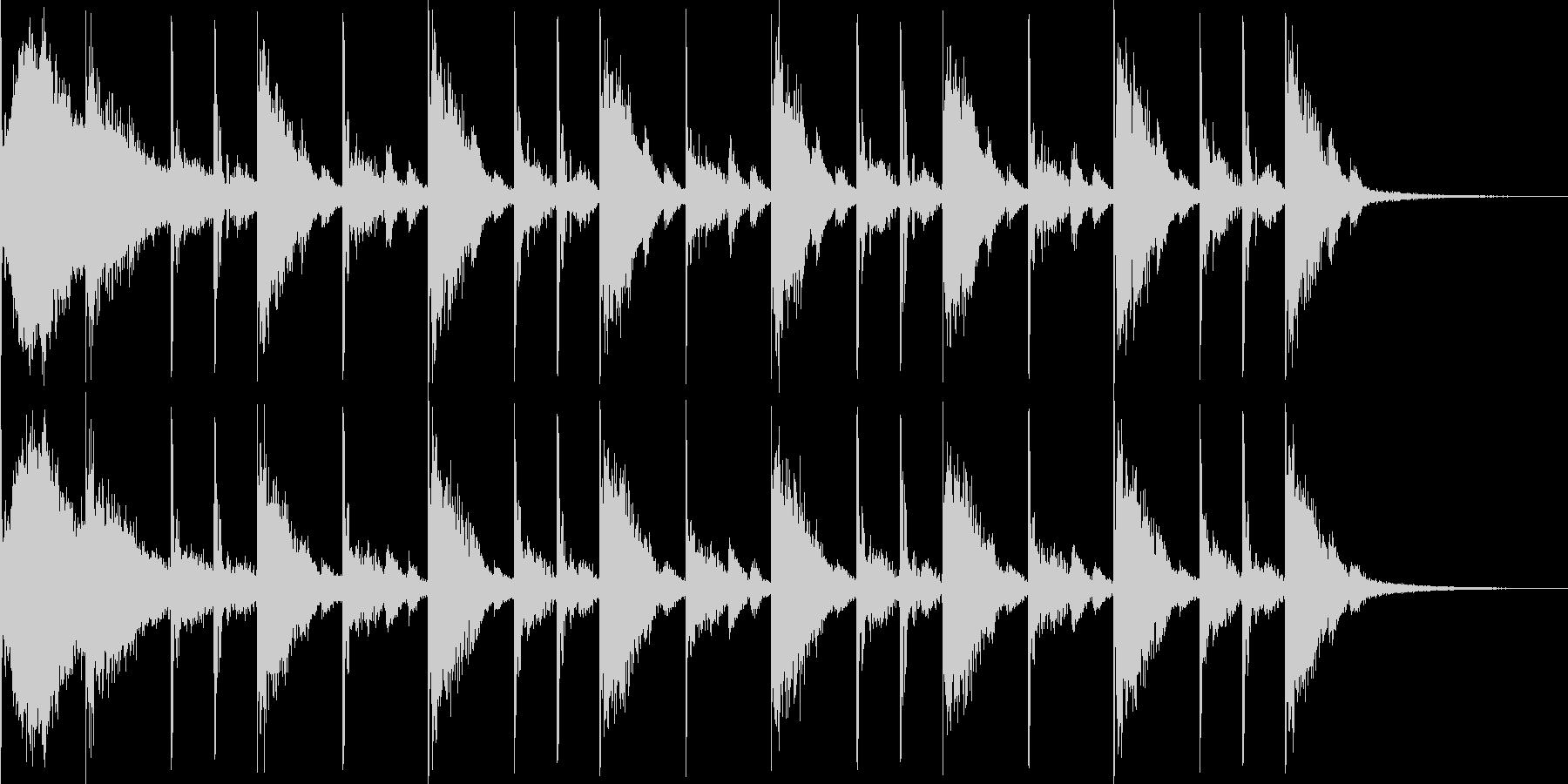 リアルなドラム16ビートです。の未再生の波形
