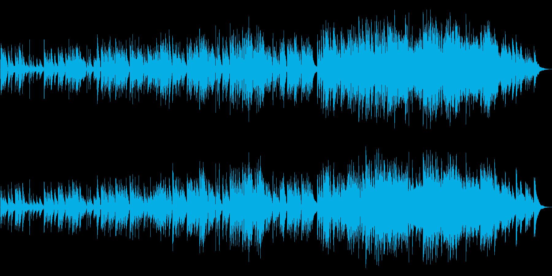 ゆったりとした優しいバラードの再生済みの波形