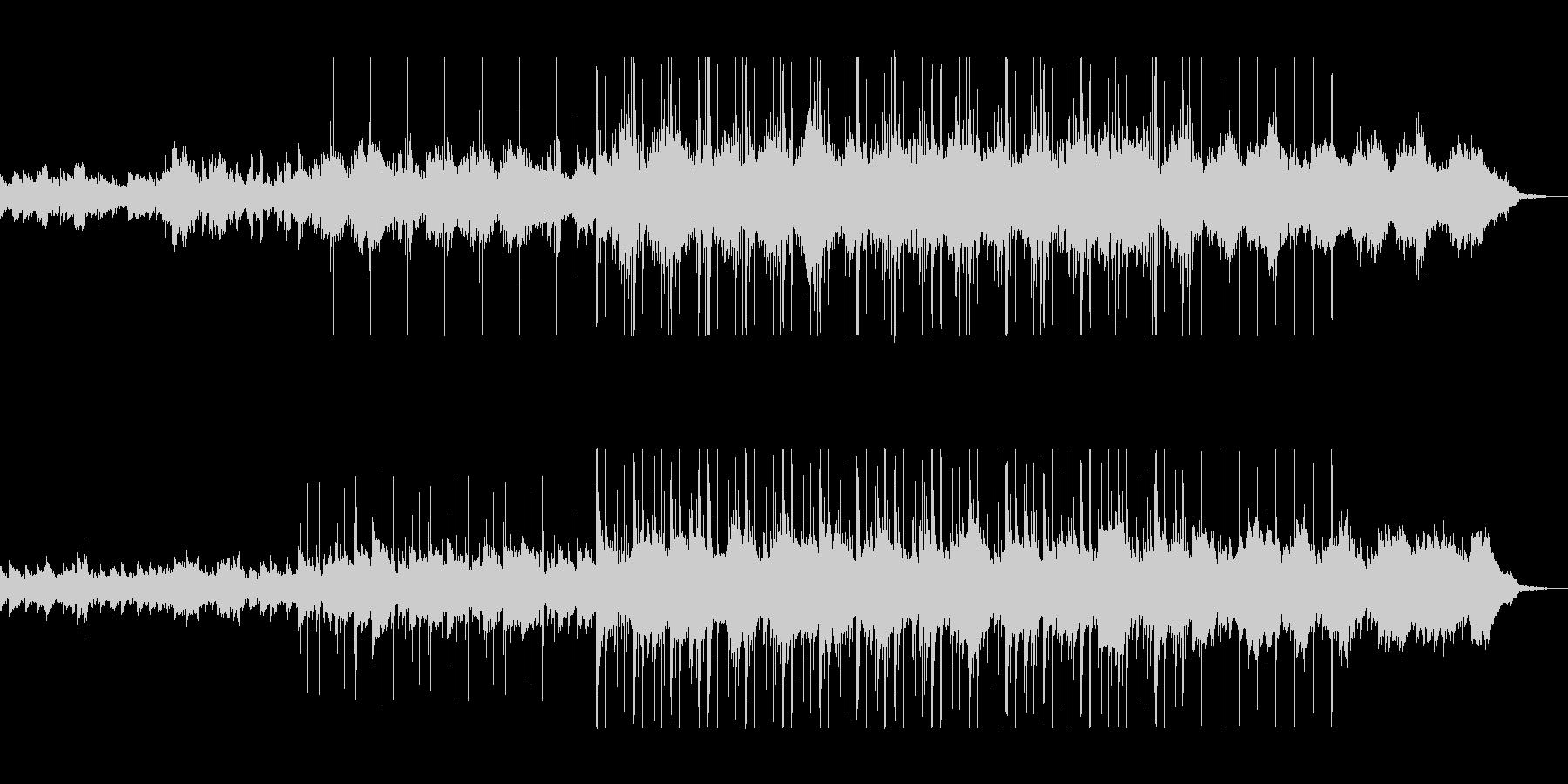 神秘的でミステリアスなシンセサイザーの未再生の波形