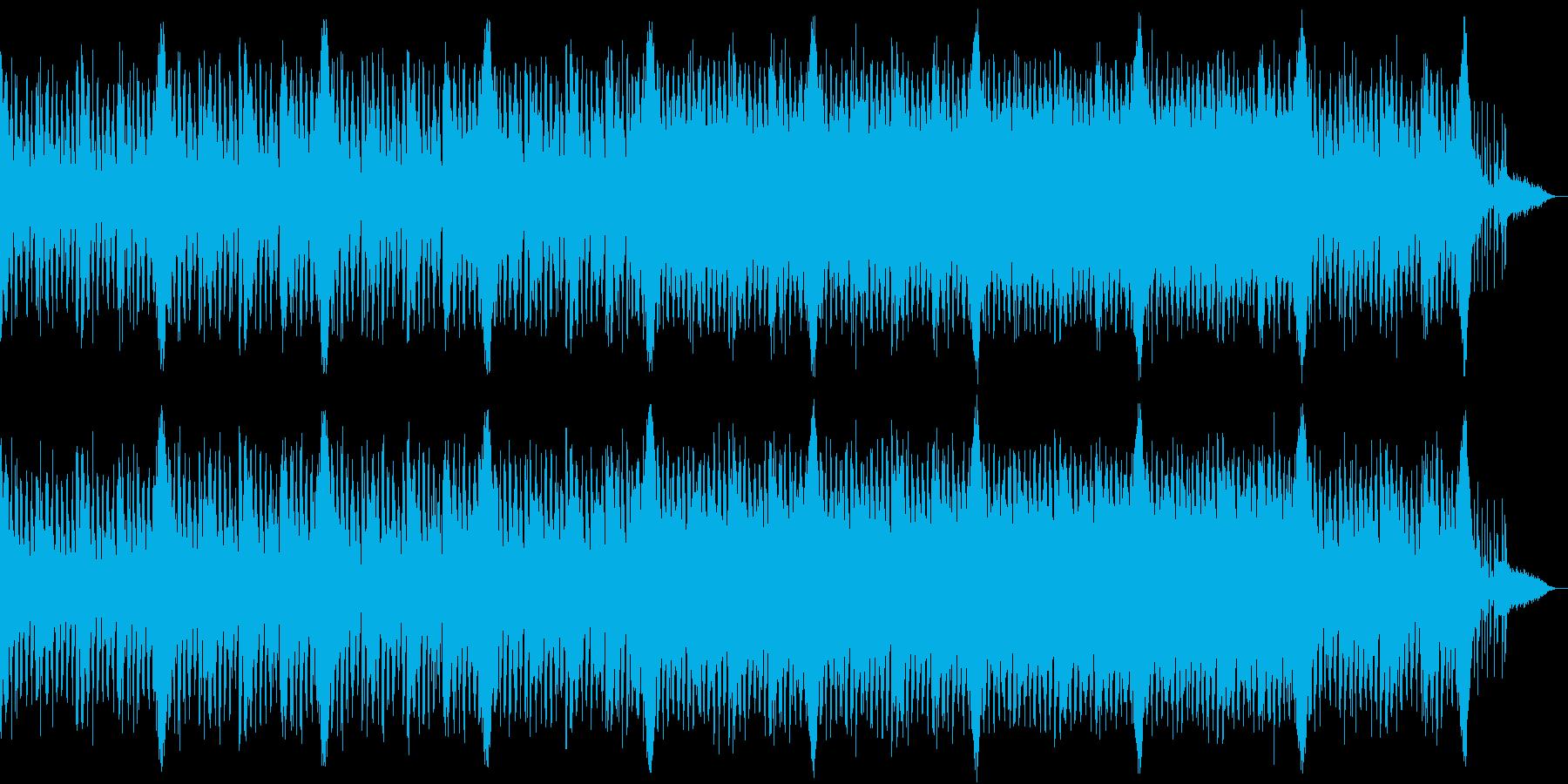 エレクトロで神秘的な響きの曲の再生済みの波形