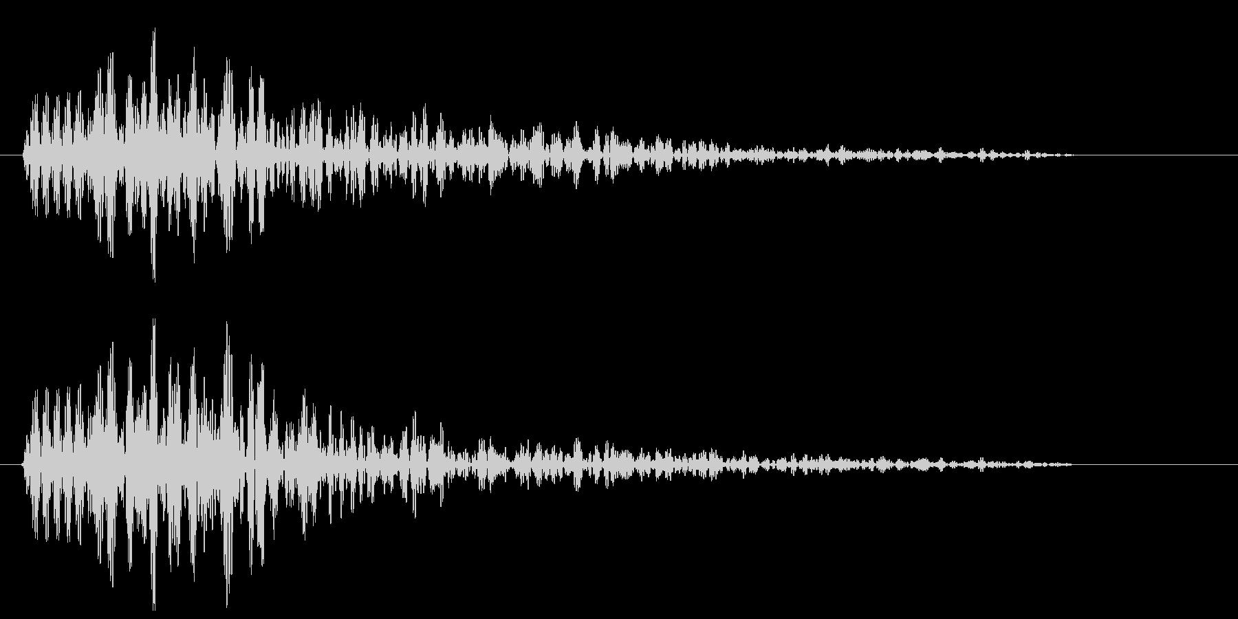 ピョン(何かが飛び出す音)の未再生の波形